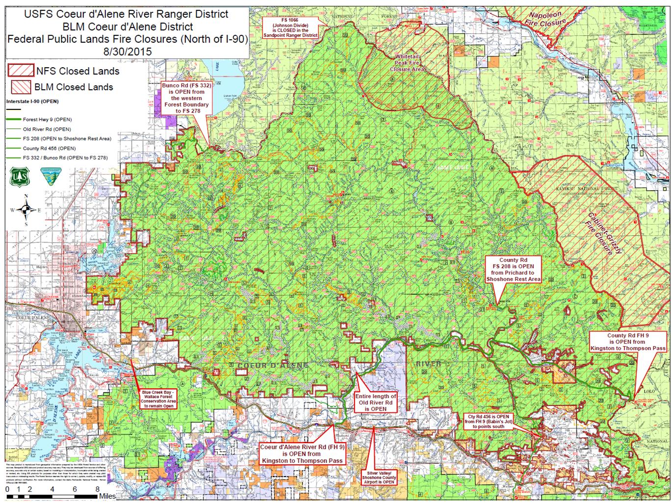 Emergency Closure Of Idaho Public Lands Starts Sunday The - Idaho public lands map
