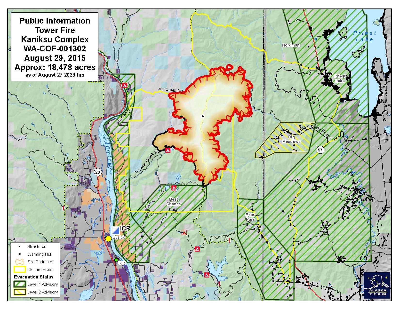 Big Bear Lake Fire Map.Evacuations Downgraded For Tower Fire Near Priest Lake The
