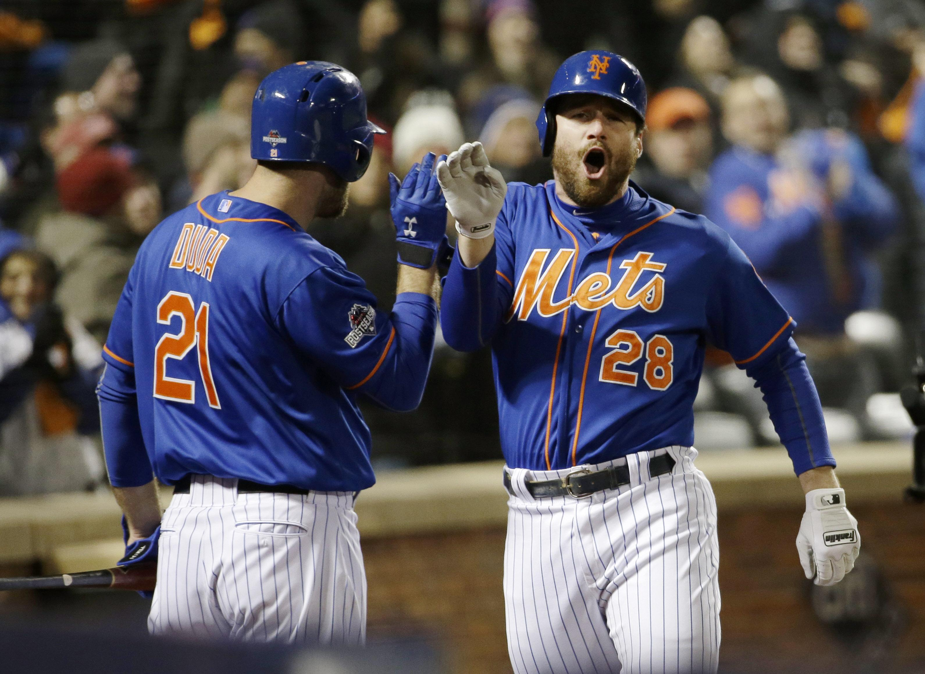 buy online c26c0 4dcfc Murphy HRs again; Mets beat Arrieta, Cubs for 2-0 NLCS lead ...