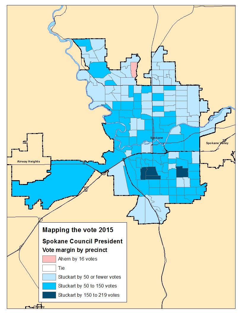 Mapping The Vote Spokane Council President The Spokesman Review - 2015-us-election-results-map