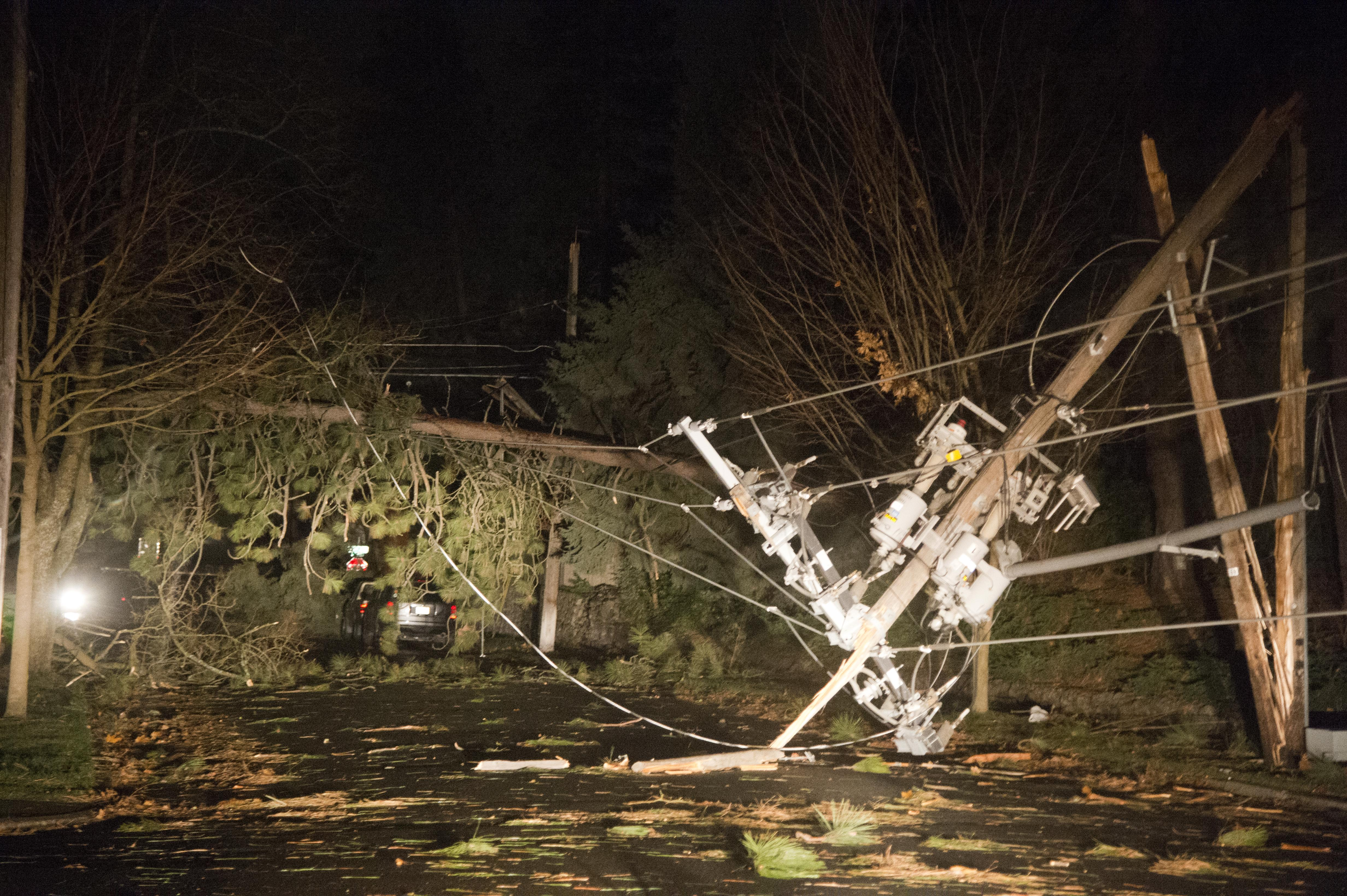 A handful of trees brought down power lines on Arthur Street near 28th Avenue during Tuesdayu0027s & Doug Clark: Windstorm transformed Spokane into post-apocalyptic maze ...