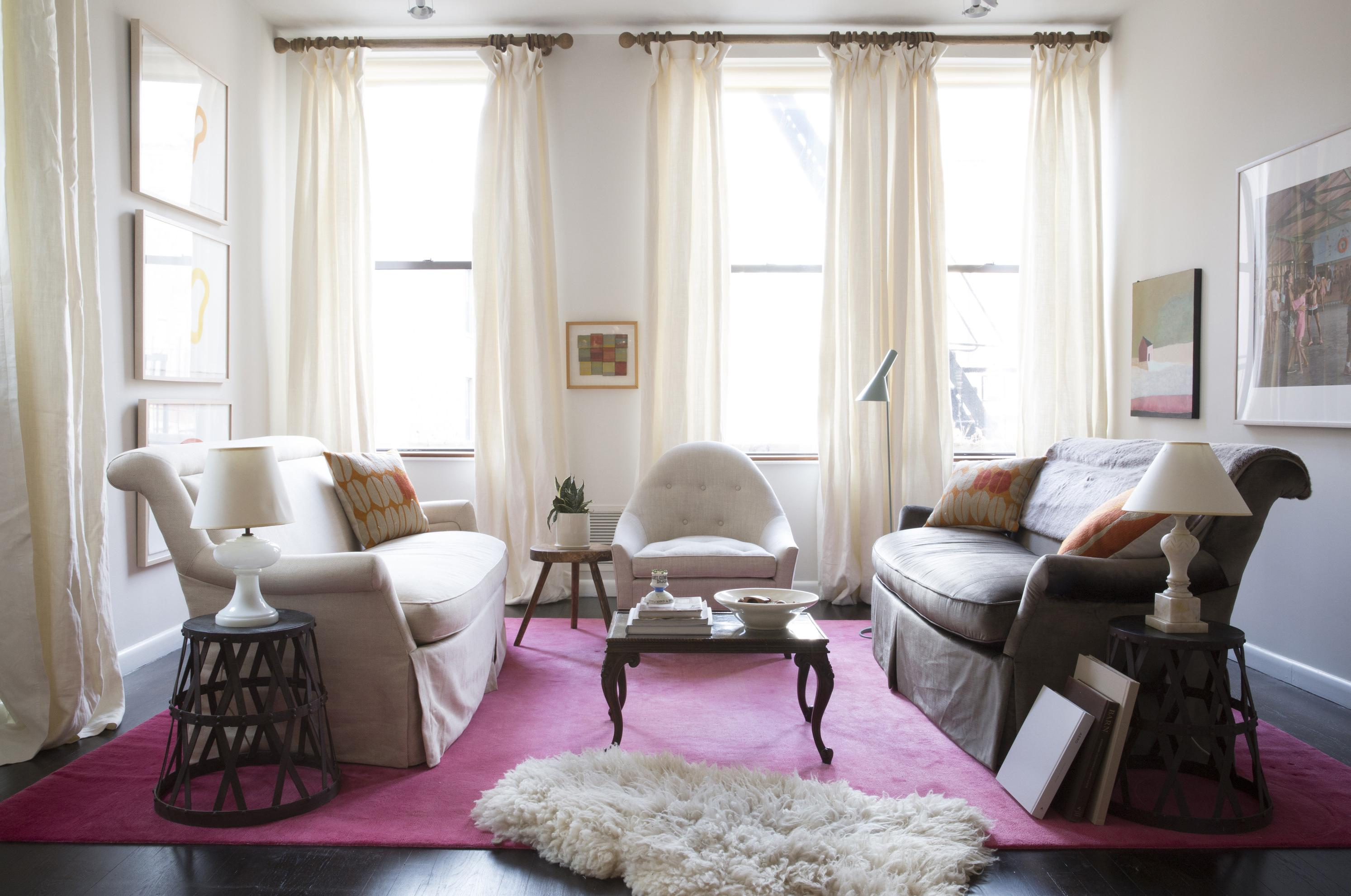In This Photo Provided By Apartment Therapy Curtains That Extend From The Ceiling To Floor Can