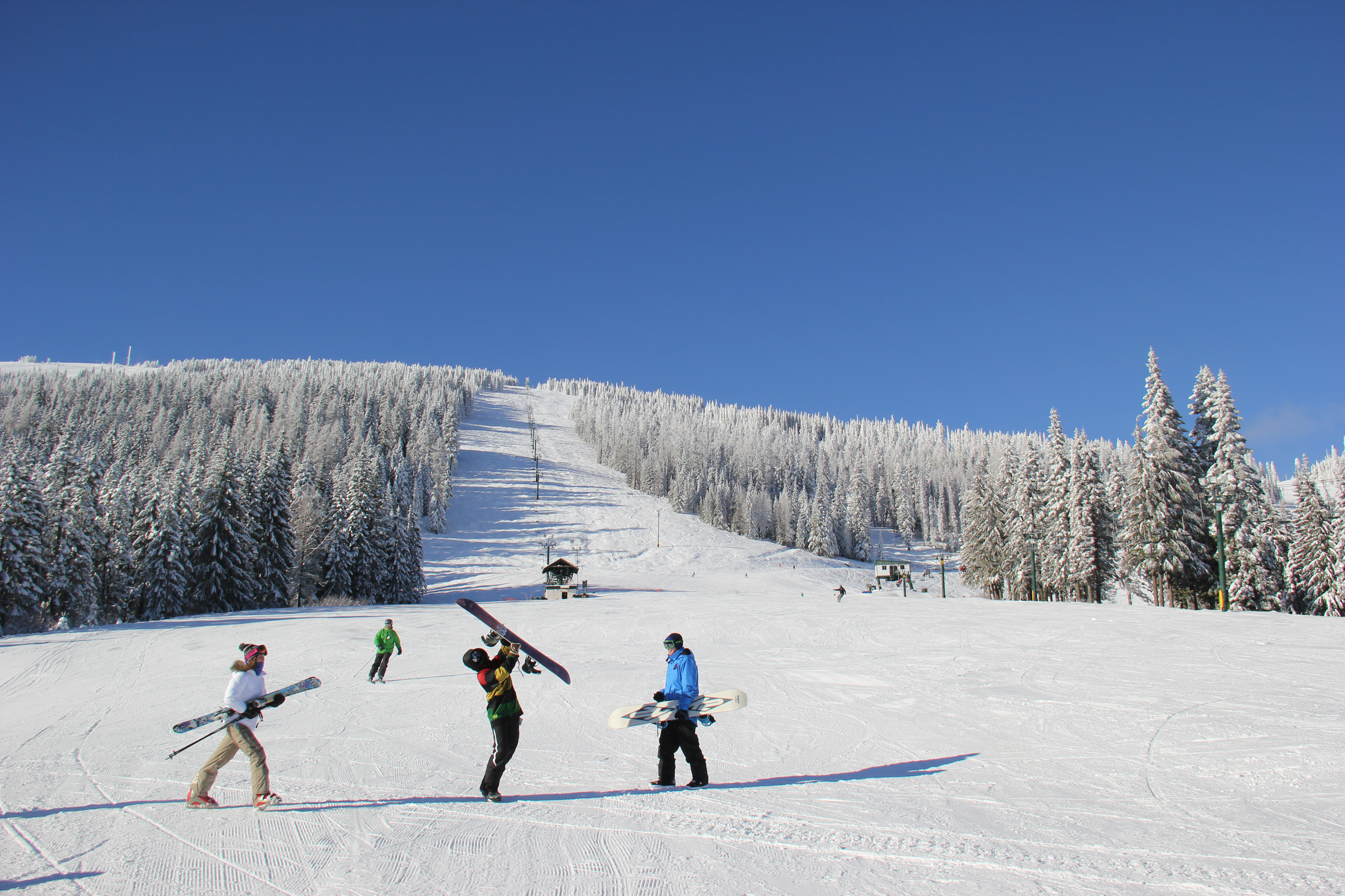 landers: mt. spokane resort has more snow than peak last year   the