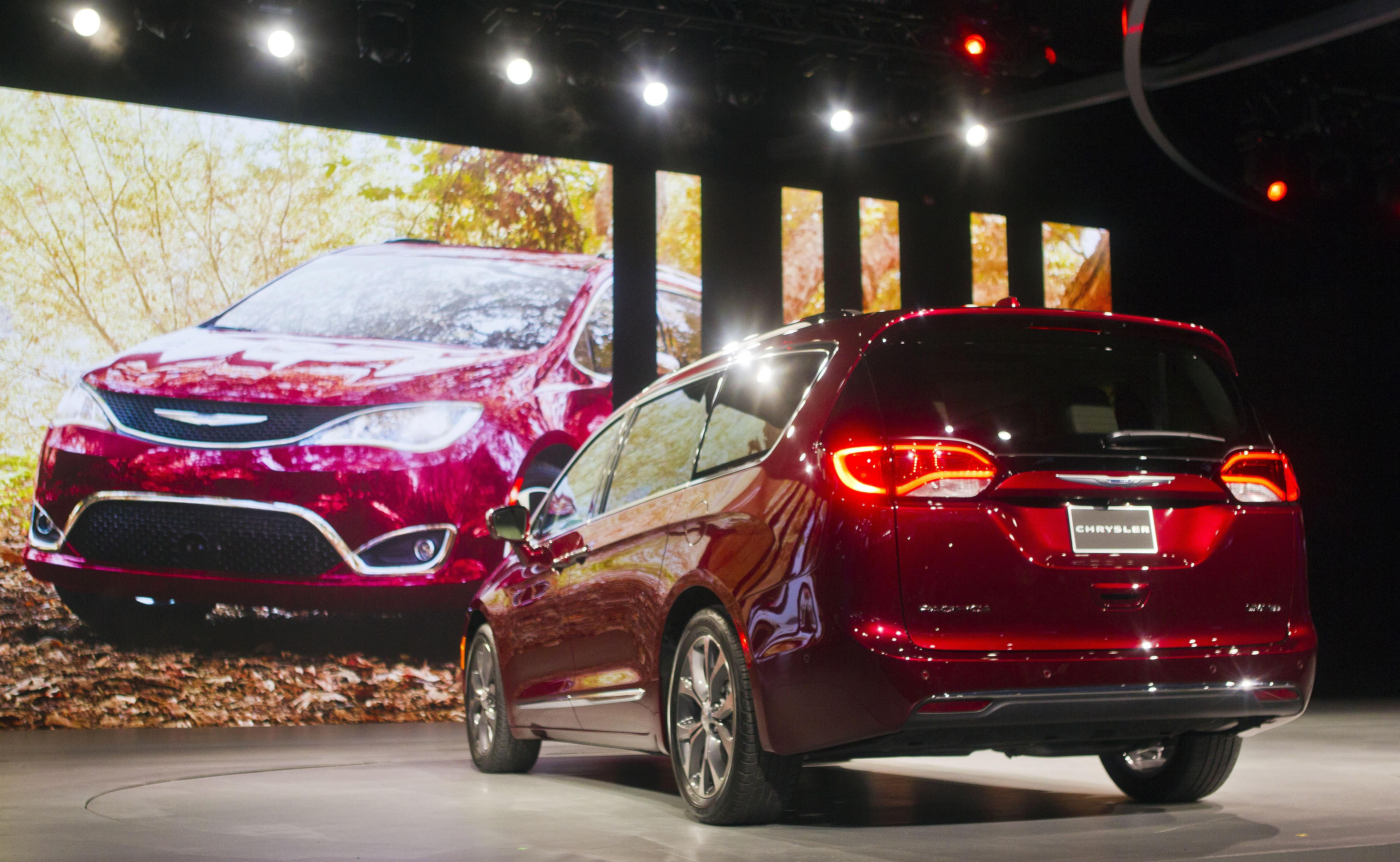 The 2017 Chrysler Pacifica Minivan Is Unveiled At North American International Auto Show On Monday