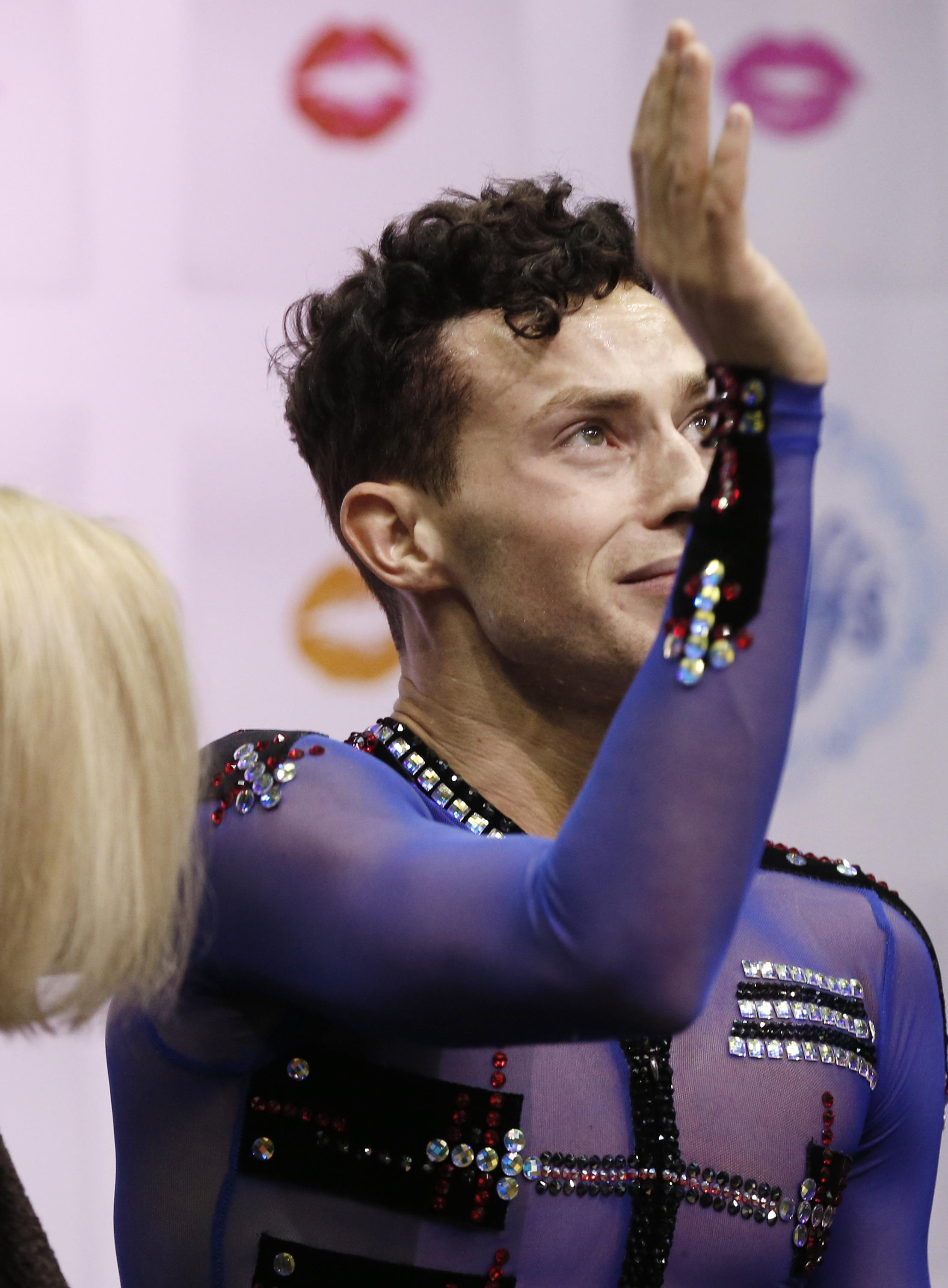 rippon wins u s title over aaron chen out any quads the adam rippon waves after moving into first place in the men s skate program of the