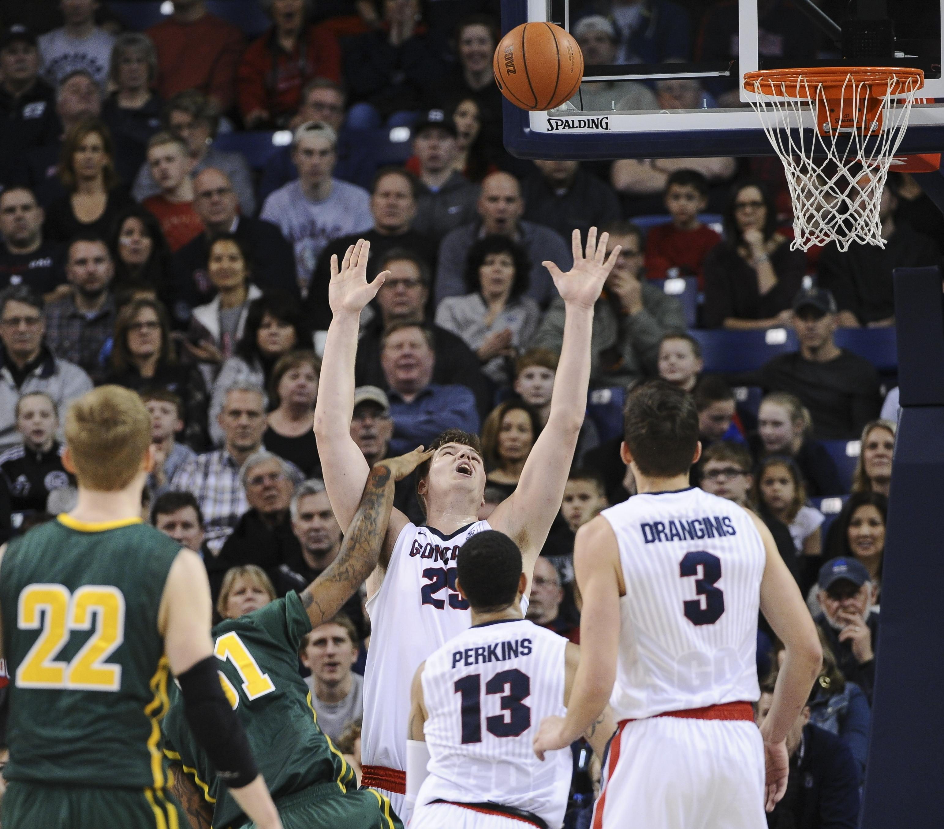 zags trying to beef up ncaa resume the review gonzaga center ryan edwards against san francisco during a college basketball game on saturday jan