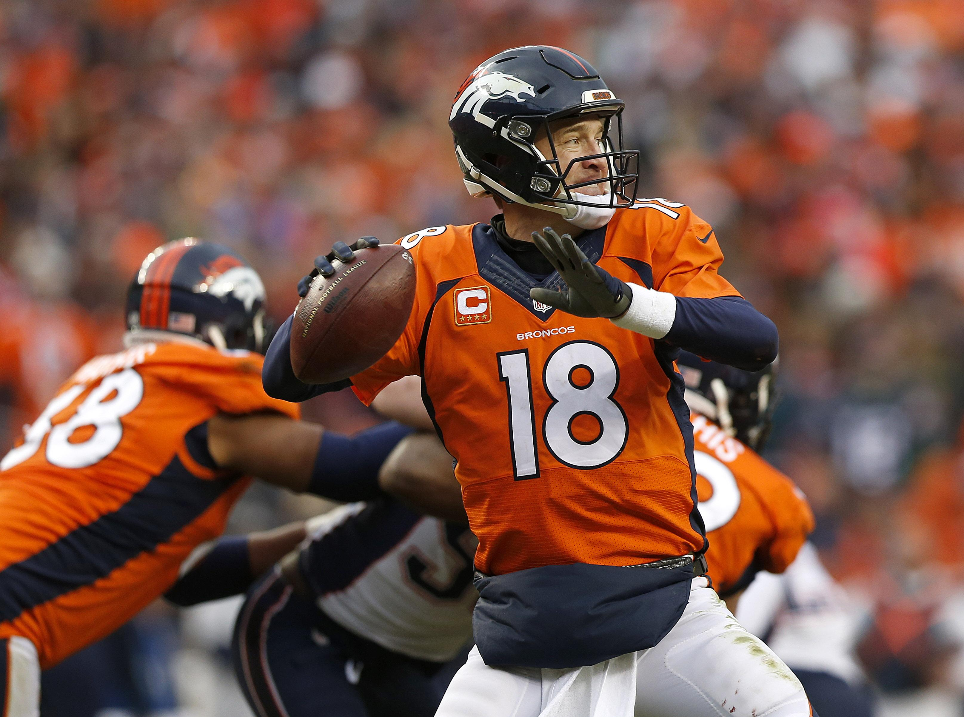 Super bowl could be peyton mannings last game cam newtons finest sunday may mark the final throws for denver broncos quarterback peyton manning david zalubowski m4hsunfo