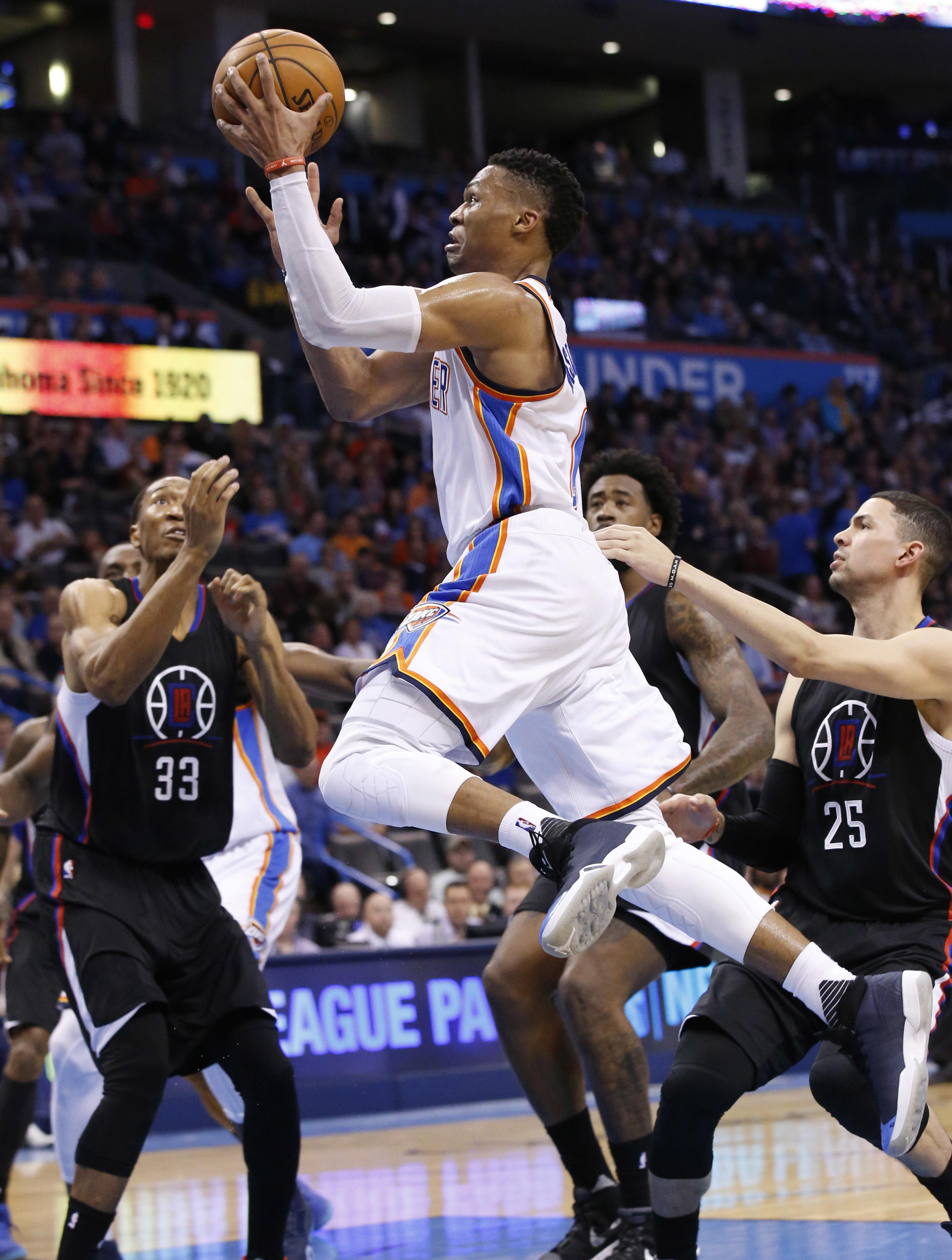 6df66a3e0cf In brief: Digest: Westbrook's triple-double lifts Thunder   The ...