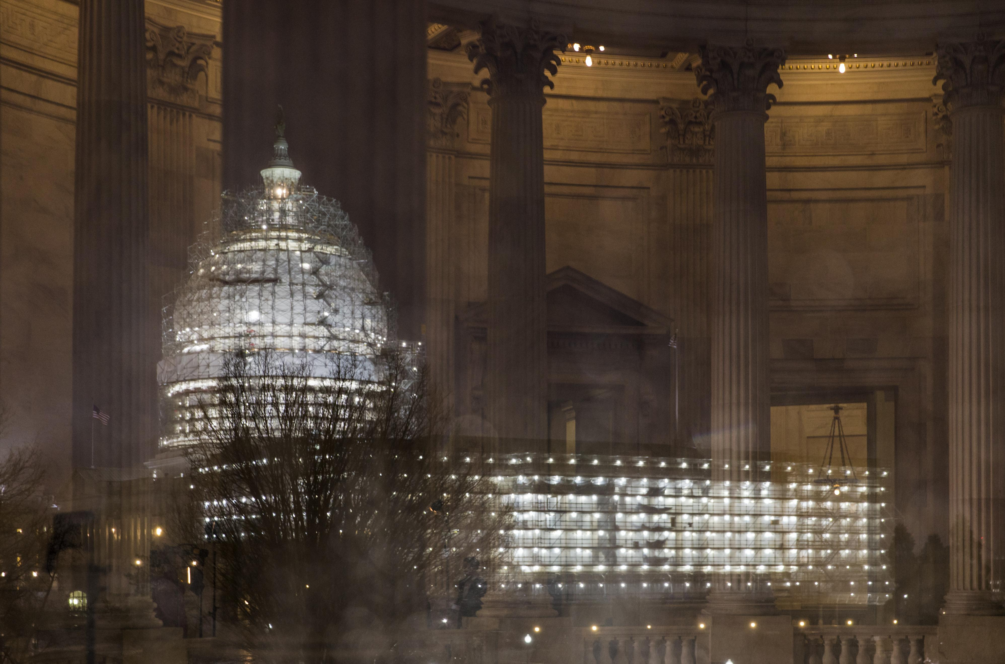 In This Feb 24 File Photo The Capitol Washington Is Illuminated During A
