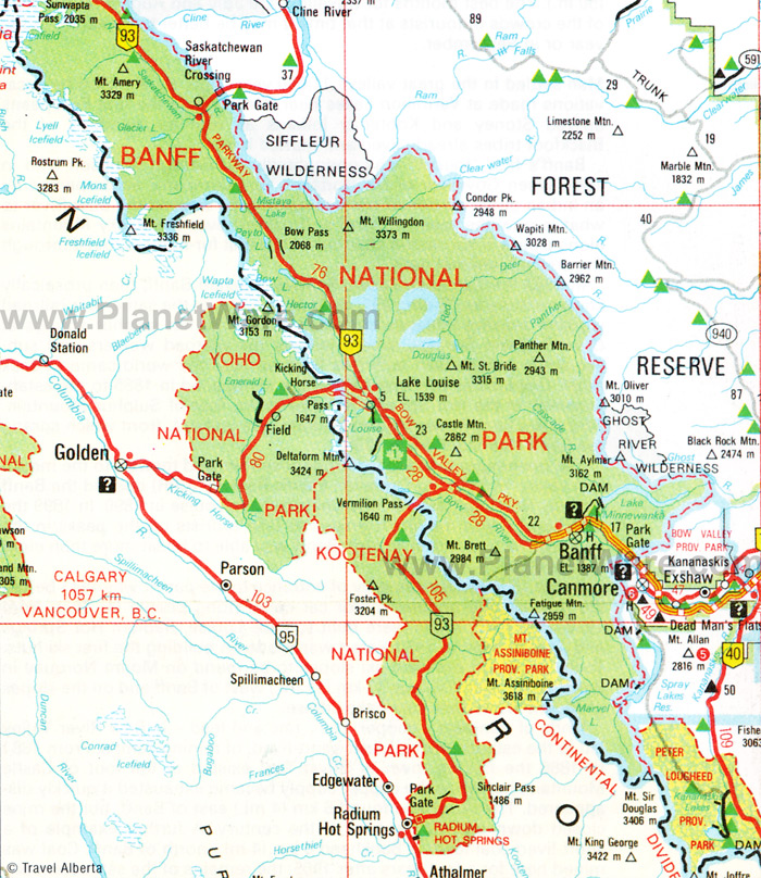 Banff National Park Map Wolf pack too friendly for official comfort in Banff Park | The