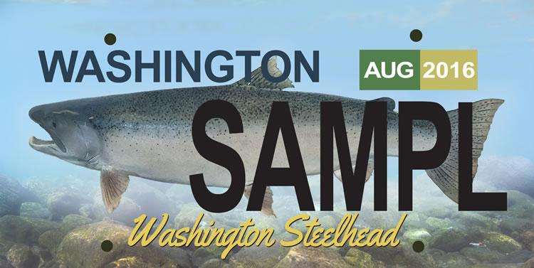 Fishing briefs steelhead license plate approved the for Washington fishing license cost 2017