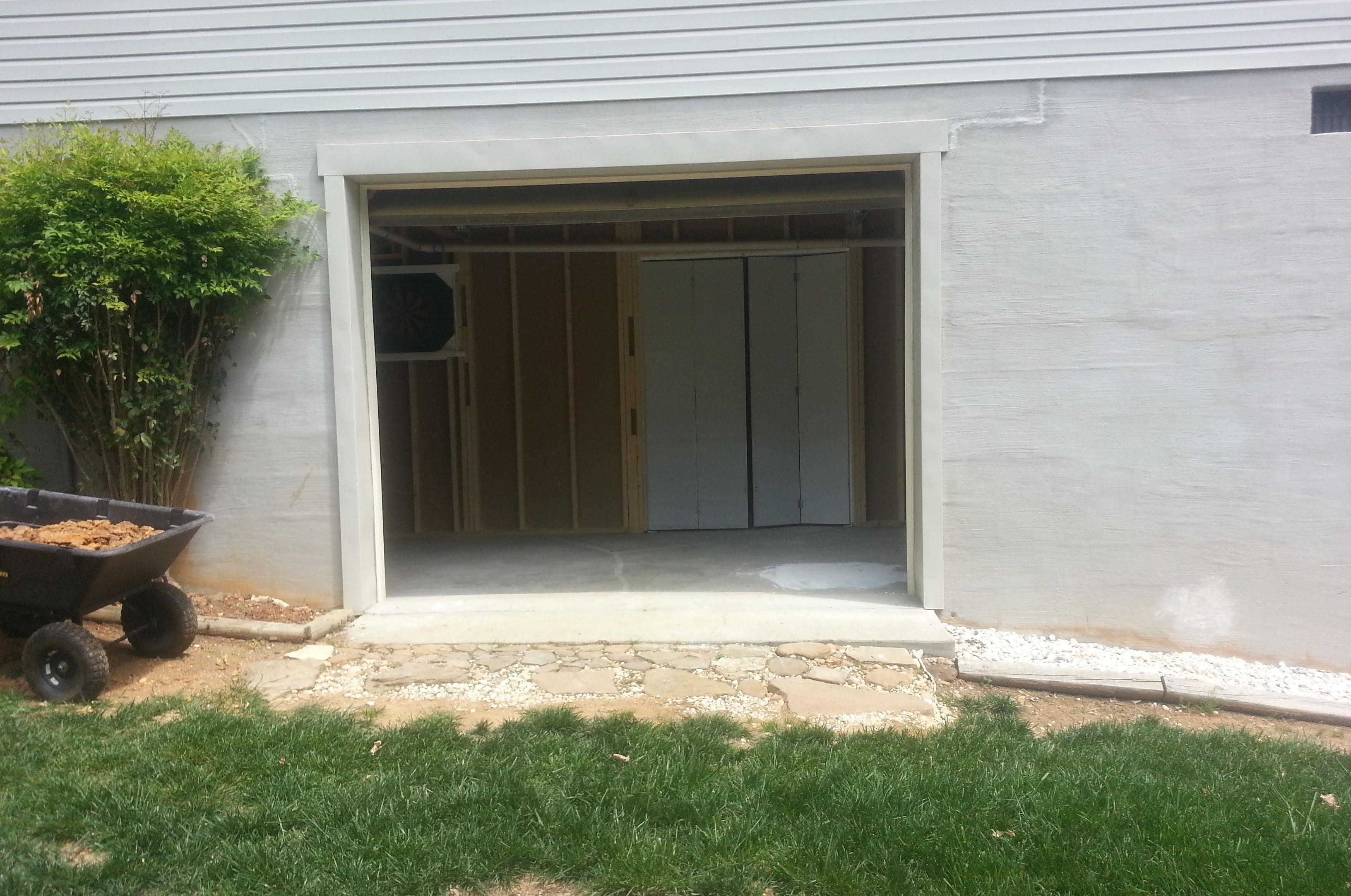 The homeowner wants to install French doors in this garage door opening. Itu0027s not that & Ask the Builder: Key to French door installation is good flashing ...