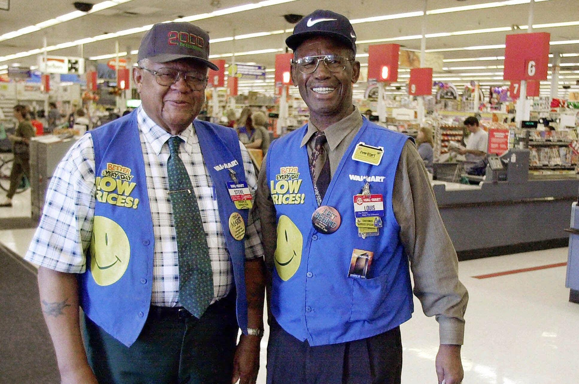 Wal-Mart greeters in T&a Fla. pose in this 2000 file photo  sc 1 st  The Spokesman-Review & Wal-Mart brings back greeters at the store door | The Spokesman-Review