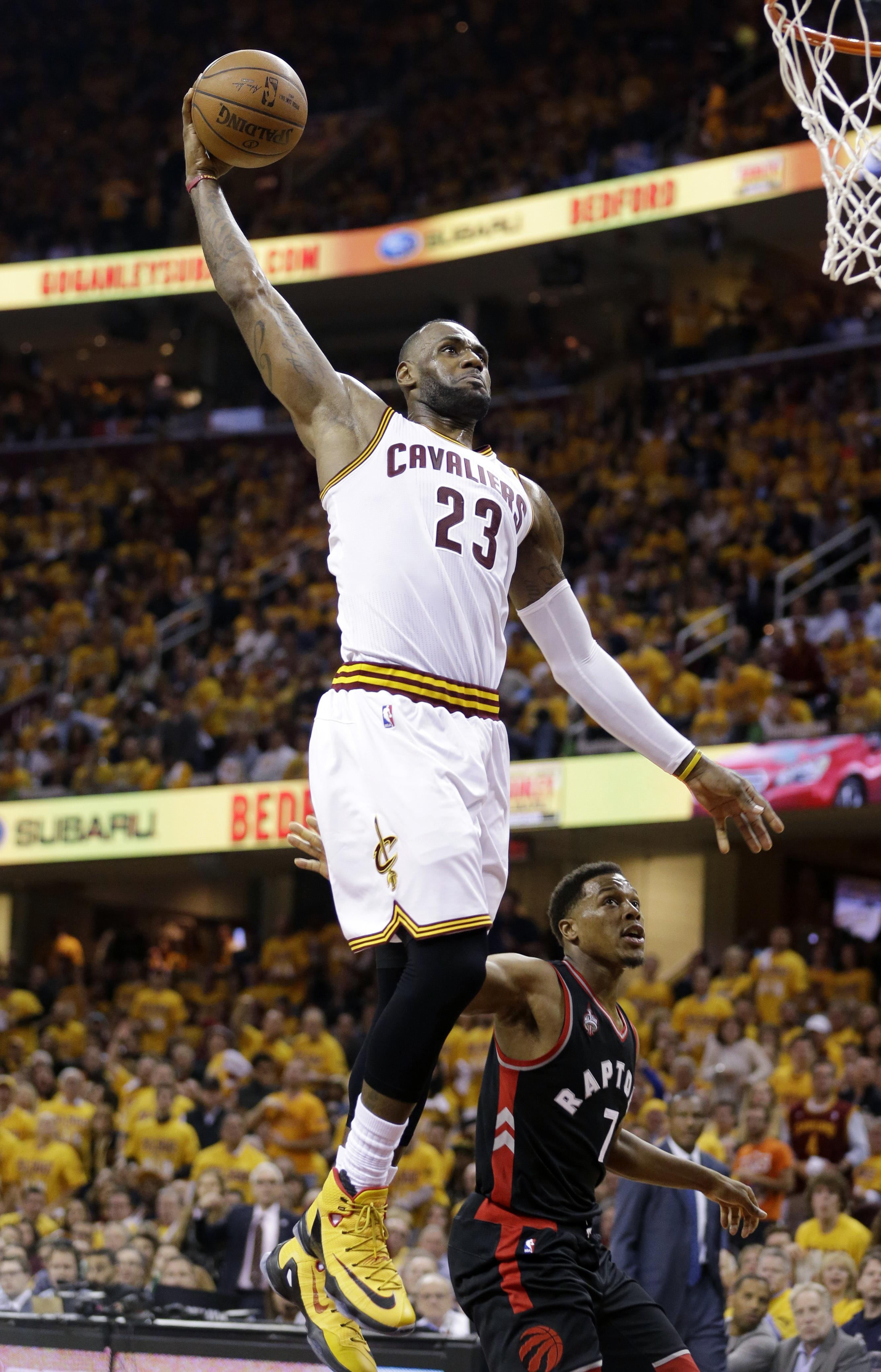LeBron James made his first nine shot in Cavaliers  blowout win. (Tony Dejak d8de742f0