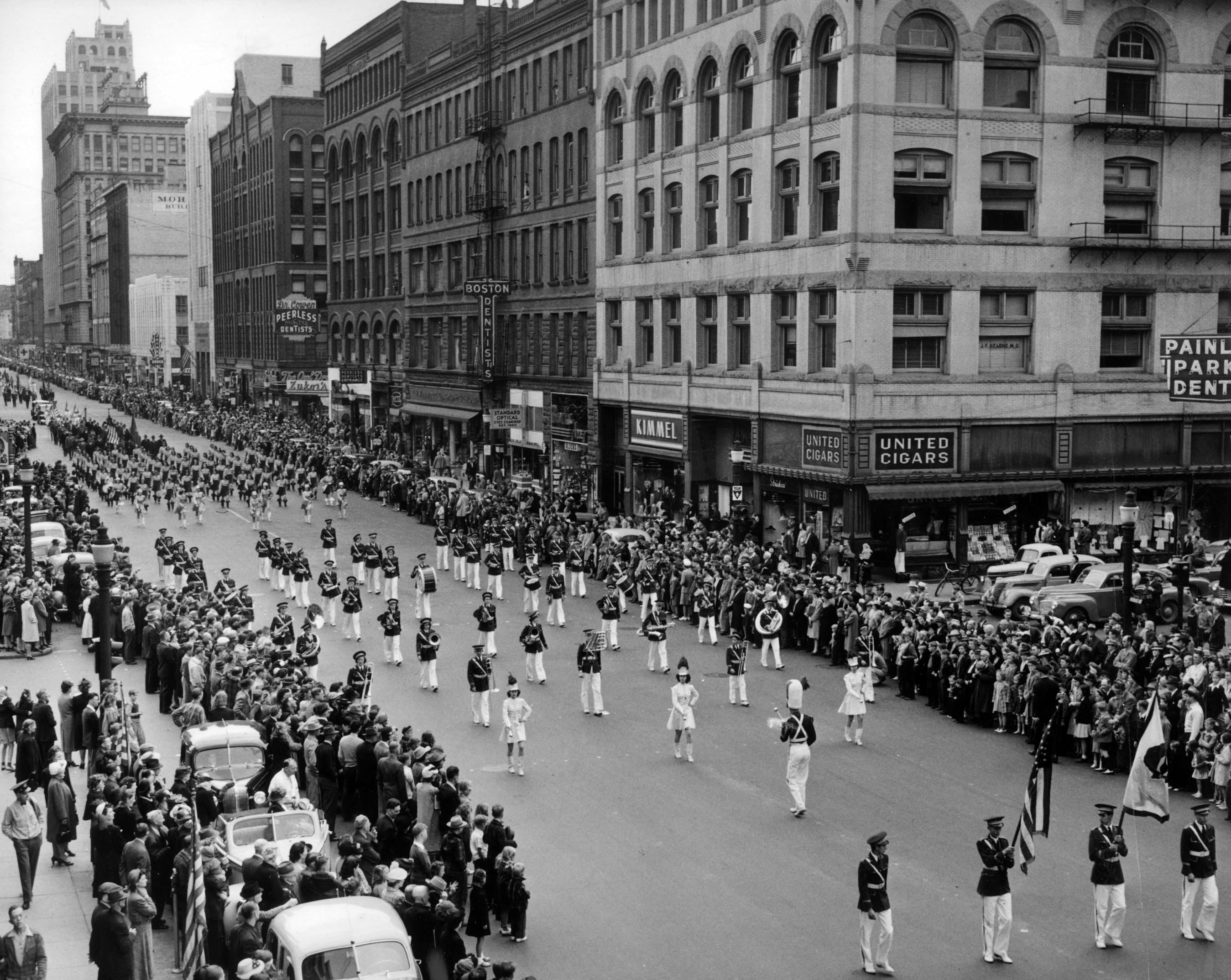 "The Memorial Day Parade on May 30, 1942, was ""strangely quiet,"""