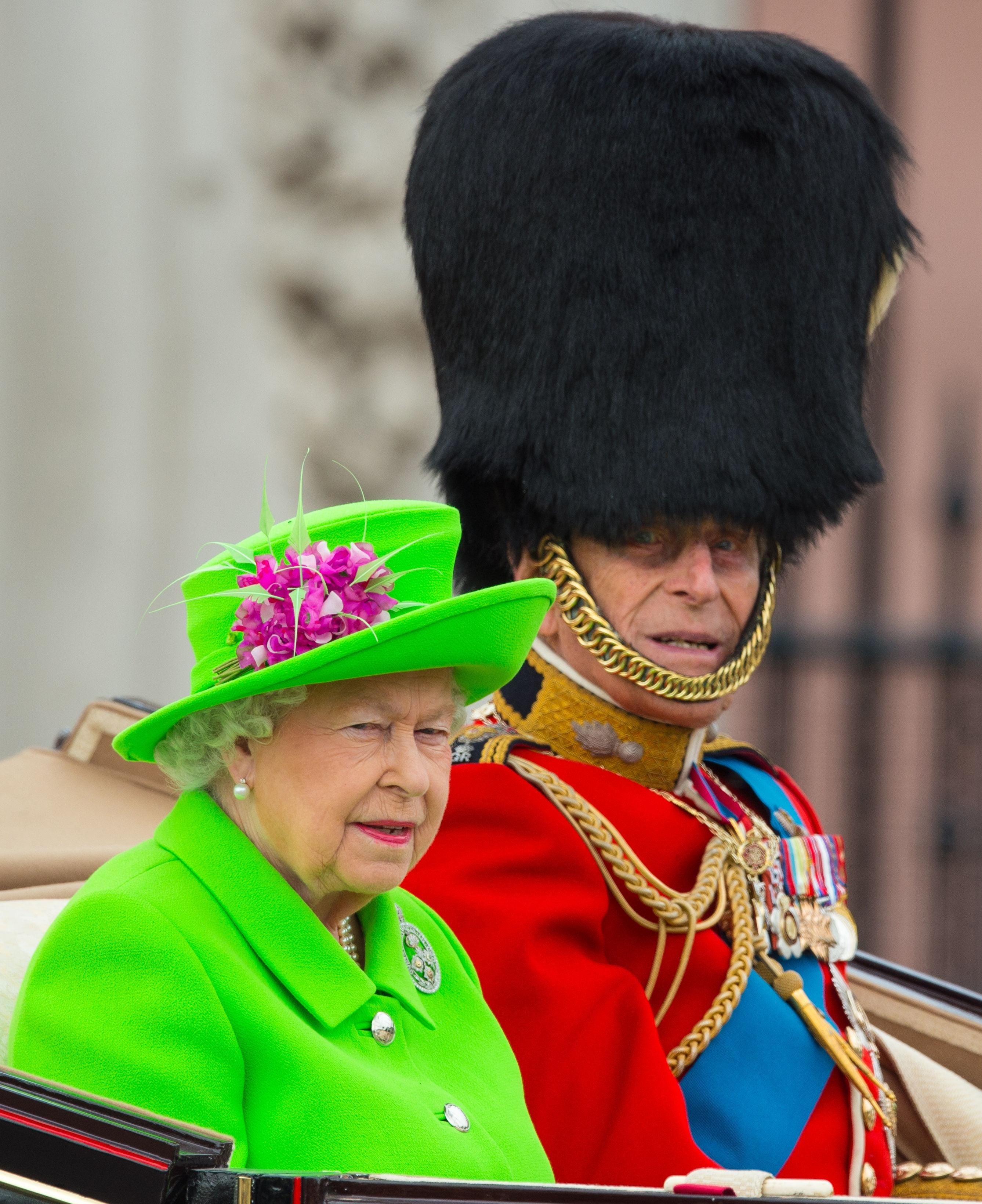 at Horse Guards Parade as the Queen celebrates her official birthday ...