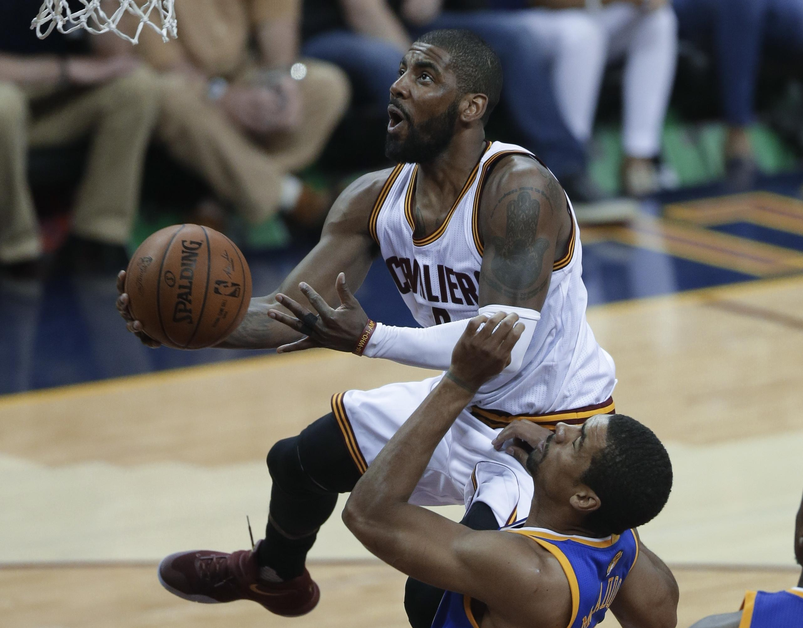 873145b64a9d Guard Kyrie Irving of the NBA champion Cleveland Cavaliers was one of 12  players named to
