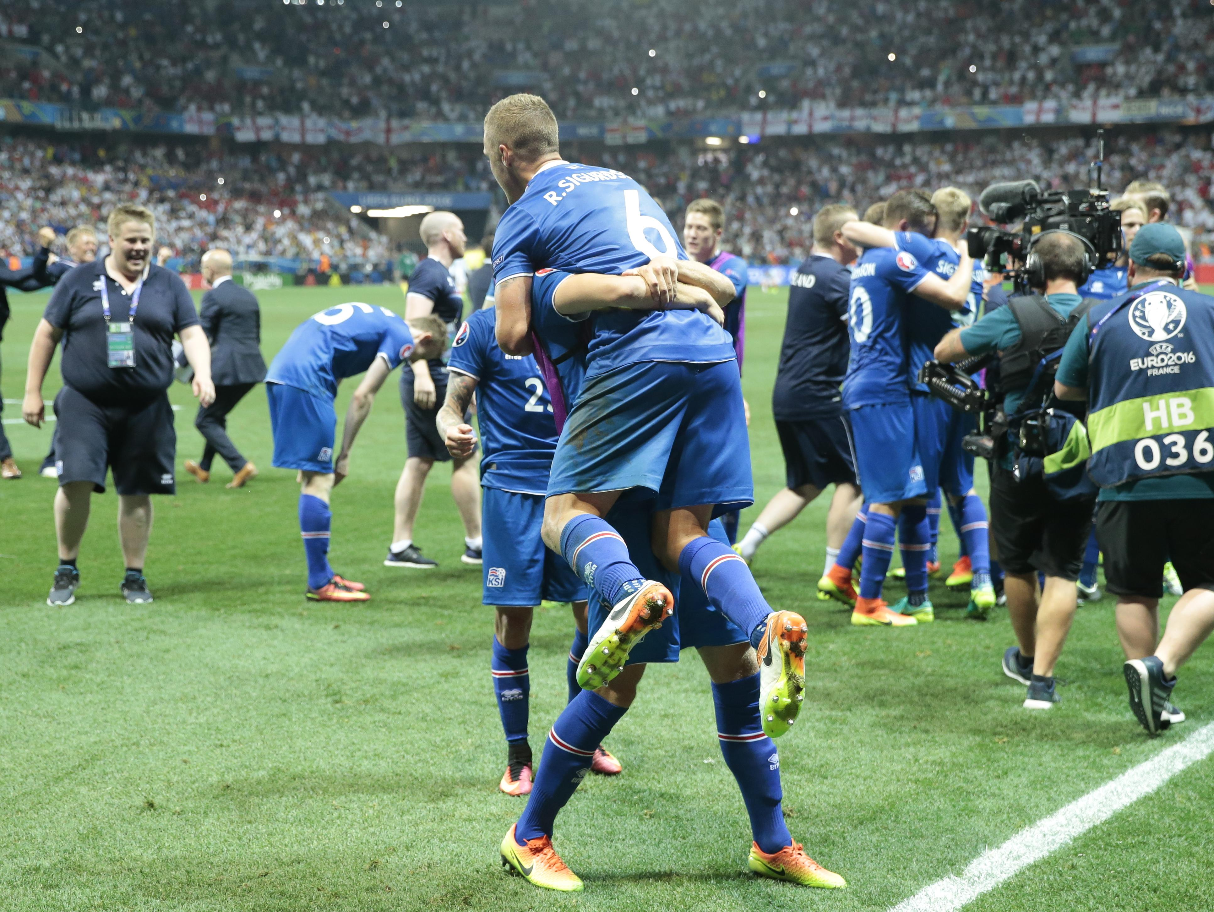 iceland celebrates biggest victory with win over england the spokesman review. Black Bedroom Furniture Sets. Home Design Ideas