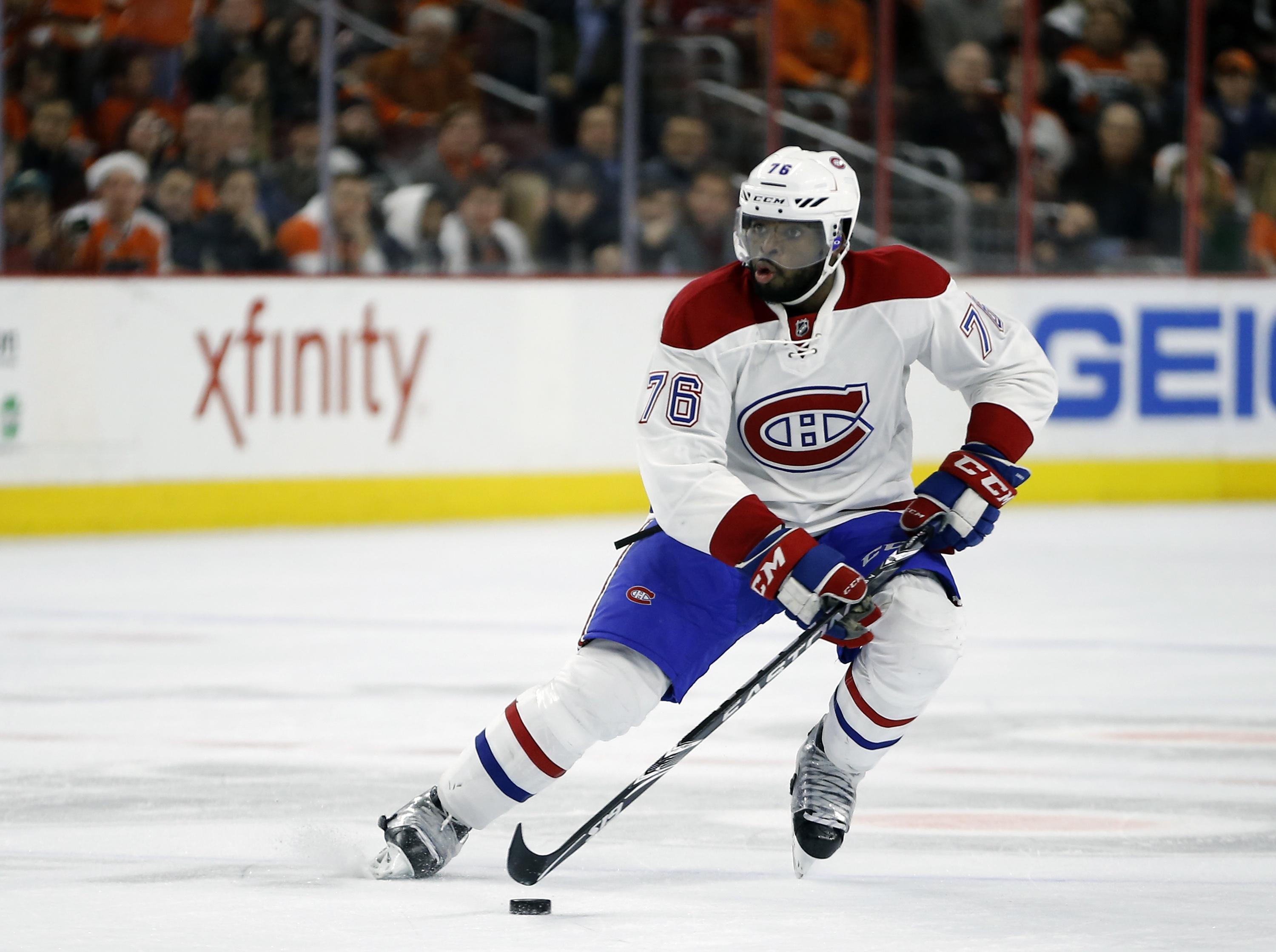 385bd862947 Montreal Canadiens' P.K. Subban was traded to the Nashville Predators in  exchange for Shea Weber
