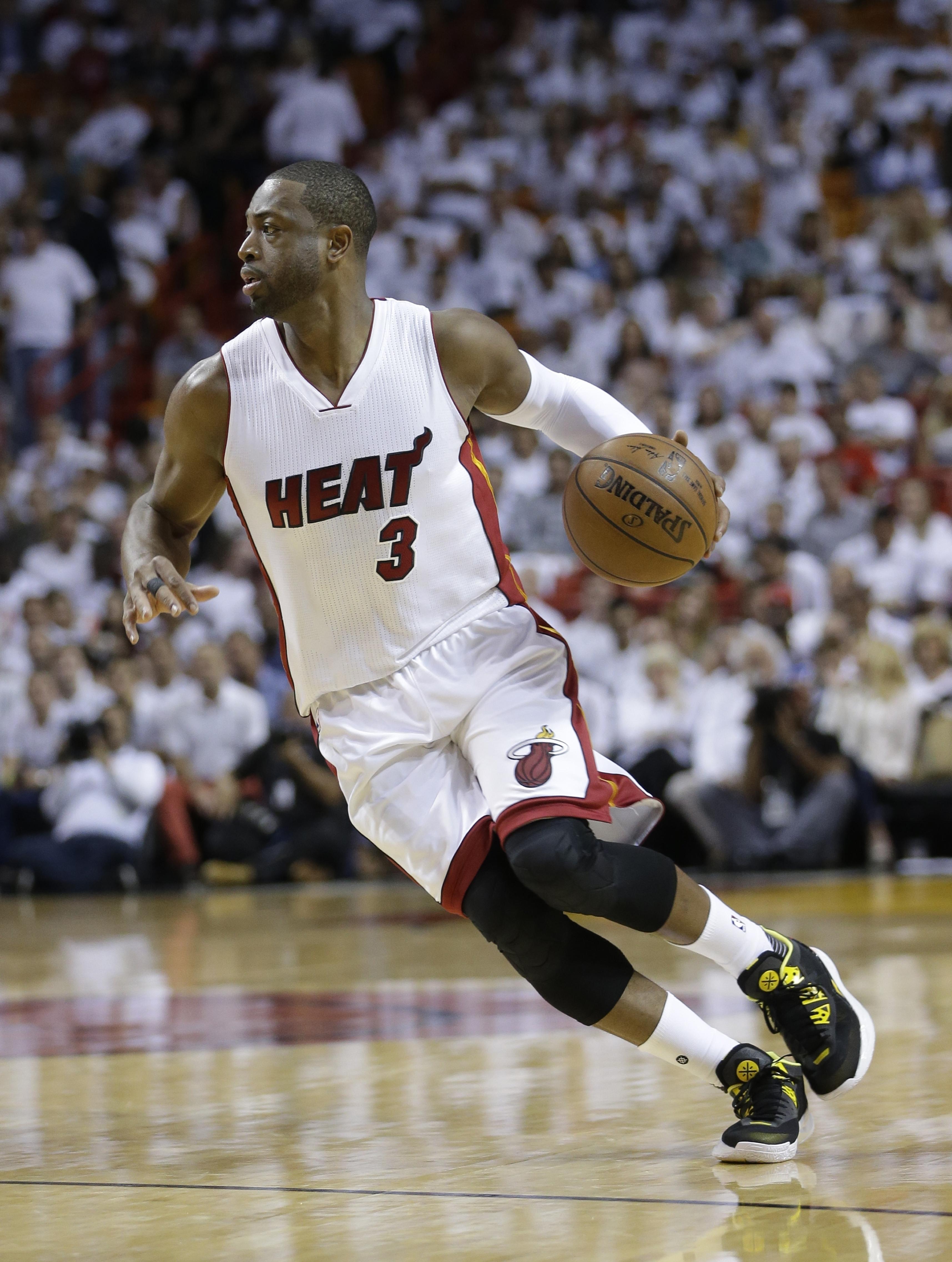 8a3e530af6fa Dwyane Wade leaves the Miami Heat after 13 seasons. (Alan Diaz   Associated  Press