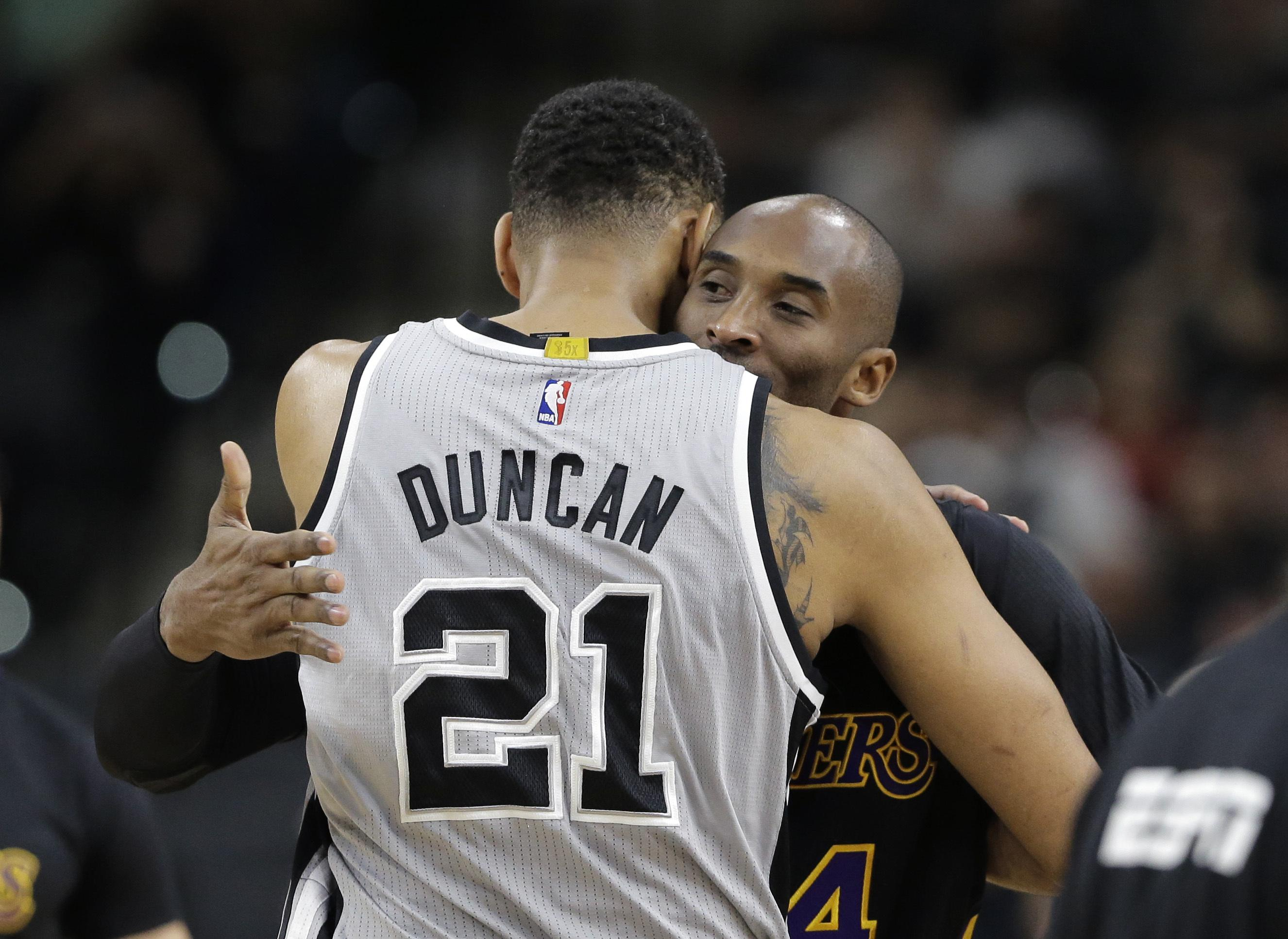 27c26154010 The NBA saw the retirements of Spurs  Tim Duncan and Lakers  Kobe Bryant