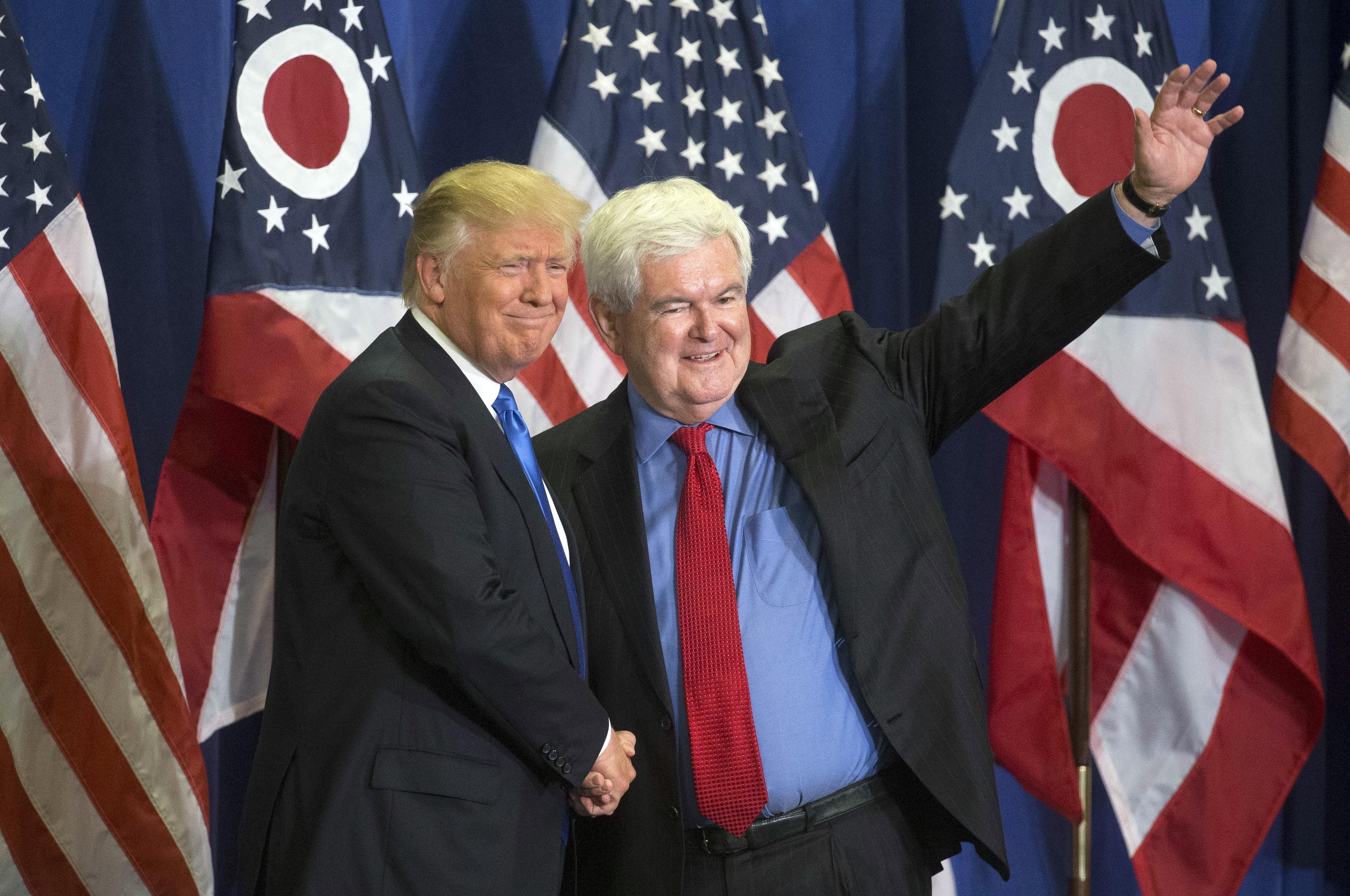 Fox News suspends Newt Gingrich amid Trump VP speculation
