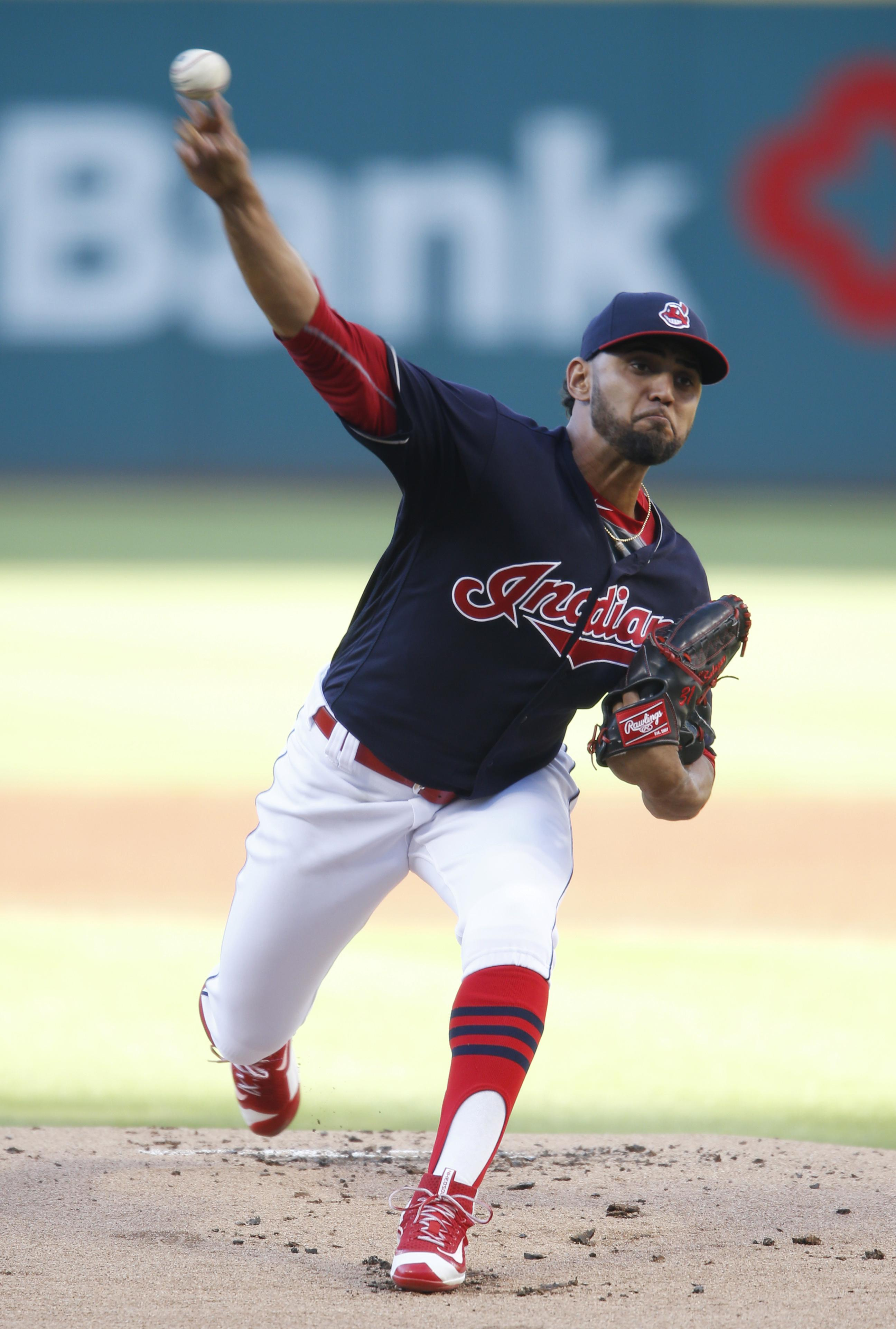 fbea25ad83963 Indians pitcher Danny Salazar will be out for two to three weeks with elbow  inflammation.