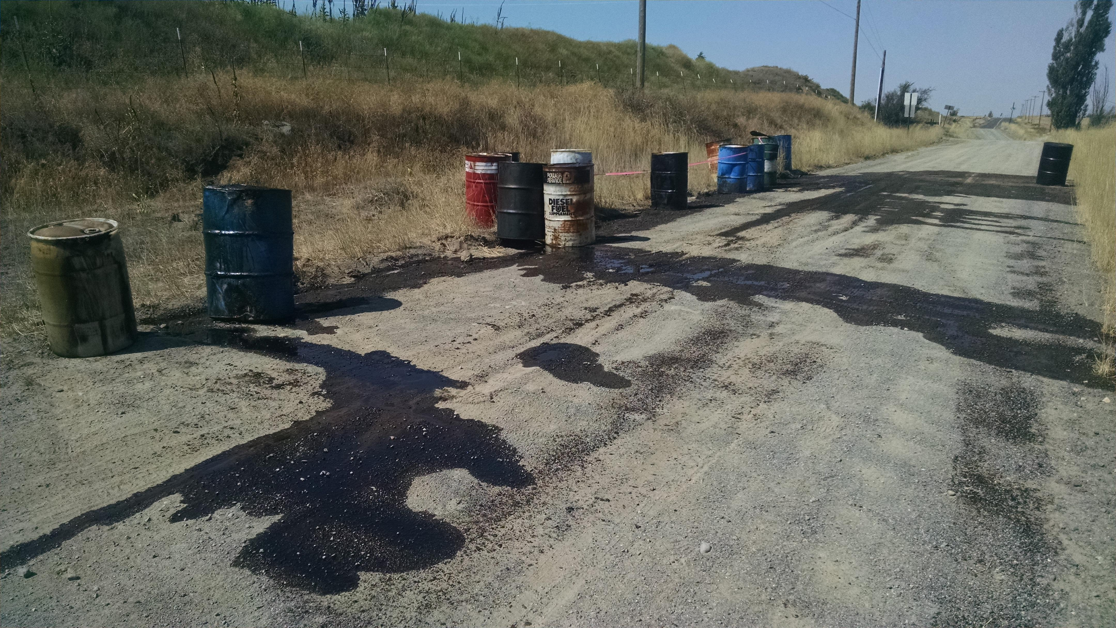 Illegal oil dumping costly for taxpayers spokane county for Motor oil by the barrel