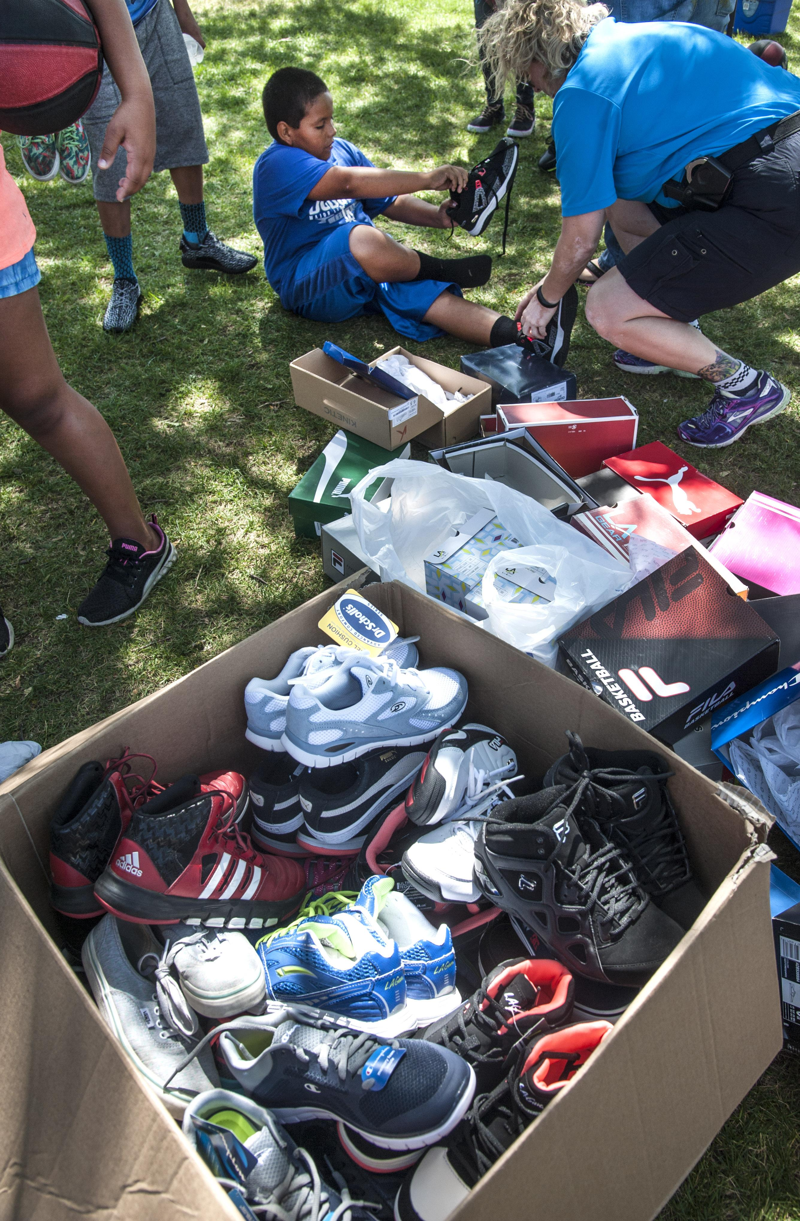 Shoe drive benefits kids in Police Activities League | The Spokesman
