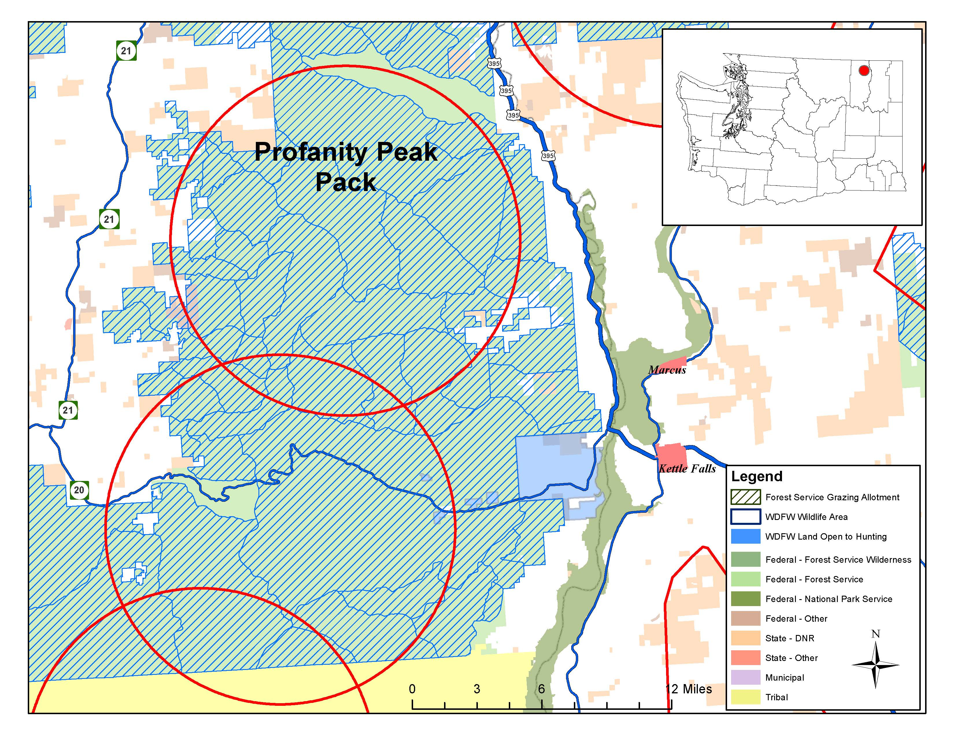 Profanity peak wolf pack details revealed by state pack for Washington department of fish and wildlife jobs