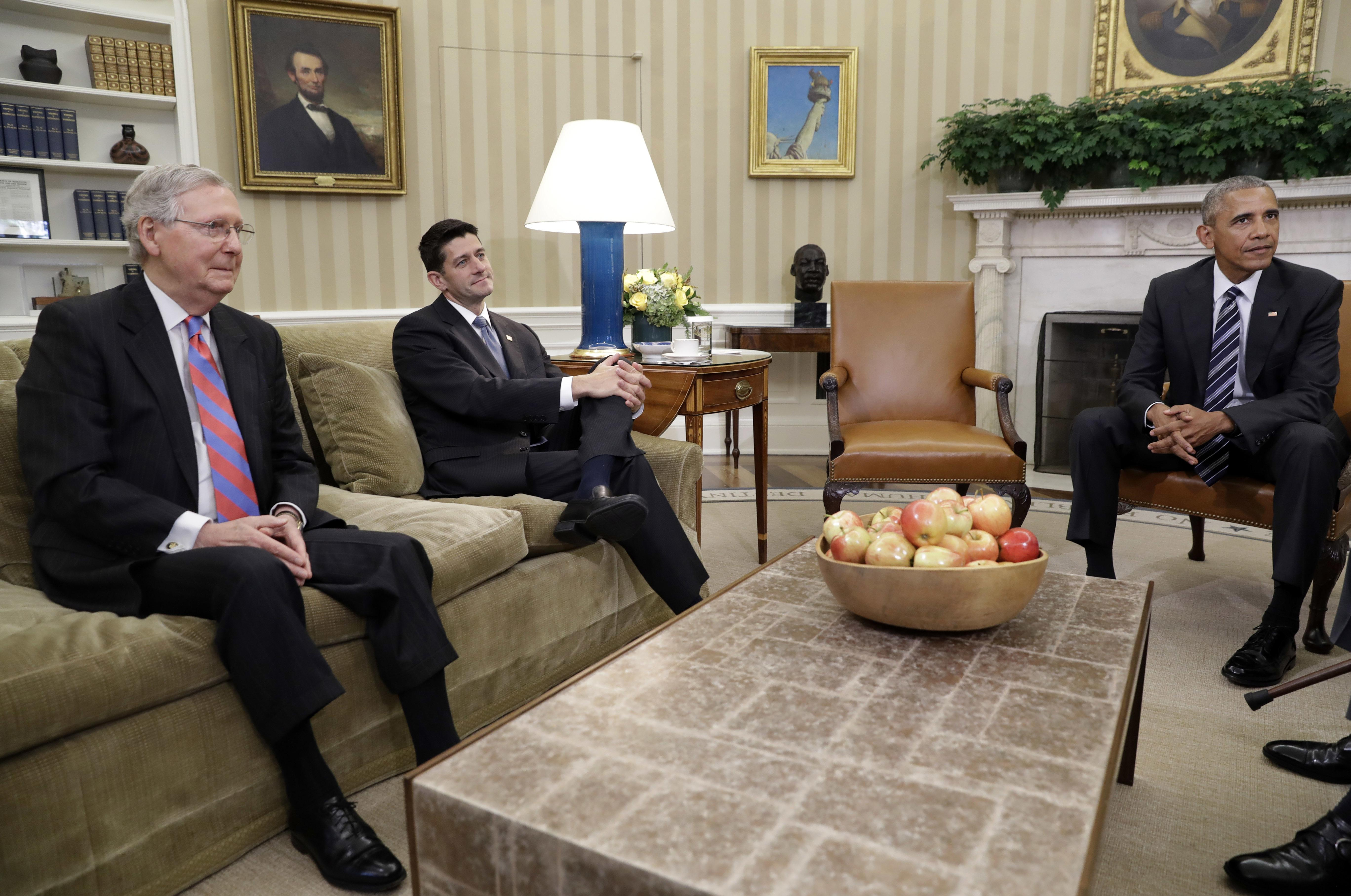 Obama, McConnell strike hopeful tone on budget, Zika   The