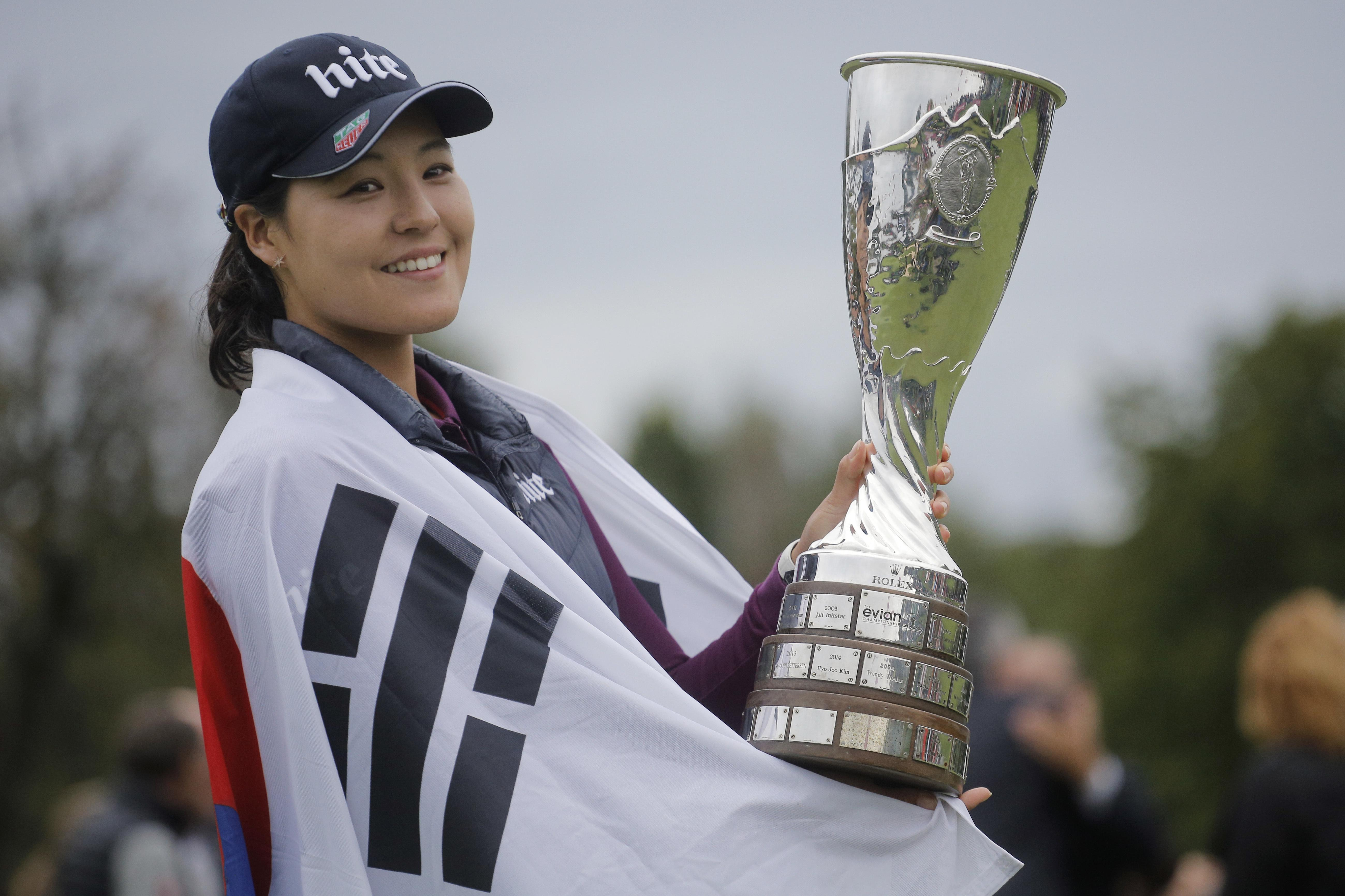 Chun wins Evian Championship with record score