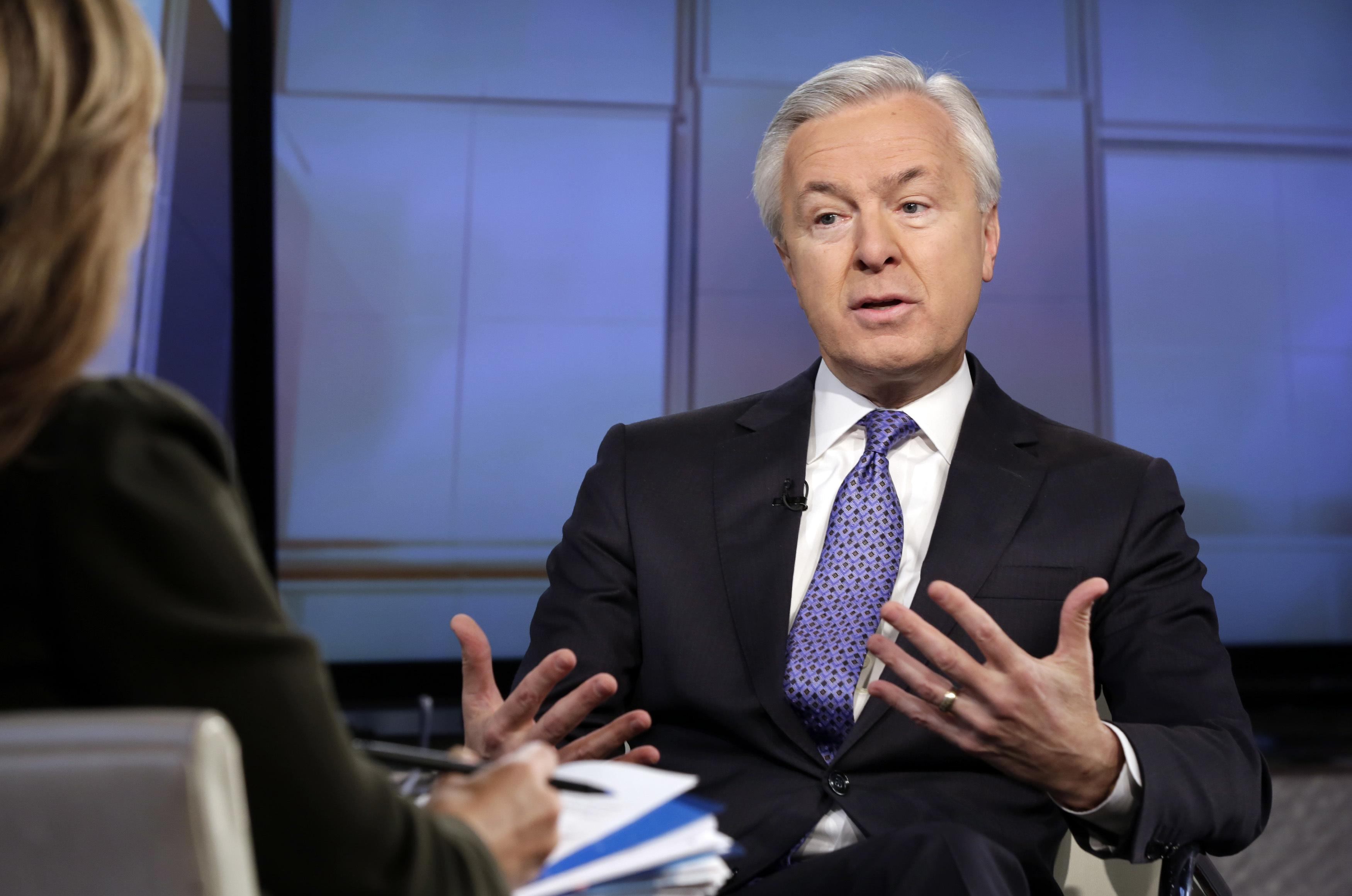 In This 2015 File Photo Wells Fargo Chairman CEO John Stumpf Is Interviewed By