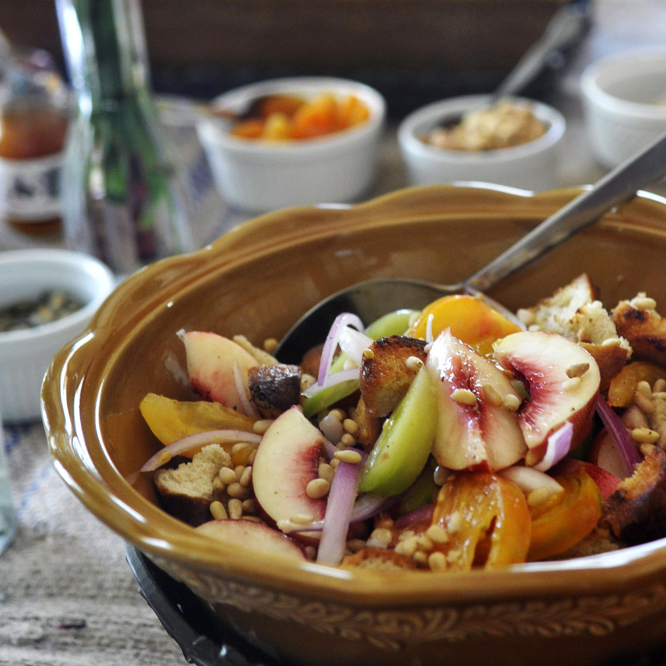 Savor the last gasp of summer with this panzanella salad featuring ...