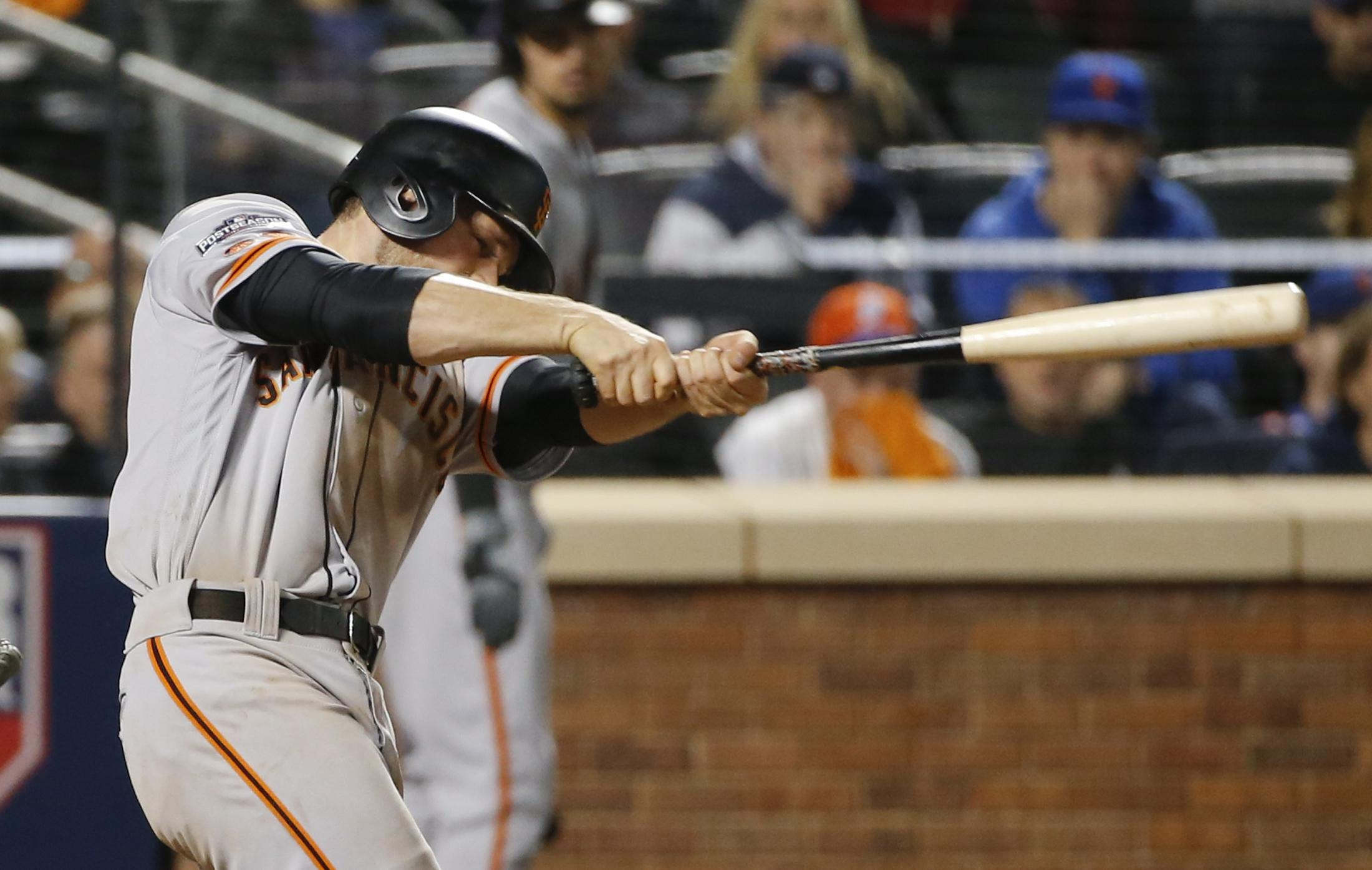 Madison Bumgarner Conor Gillaspie Lead Giants Over Mets In Nl