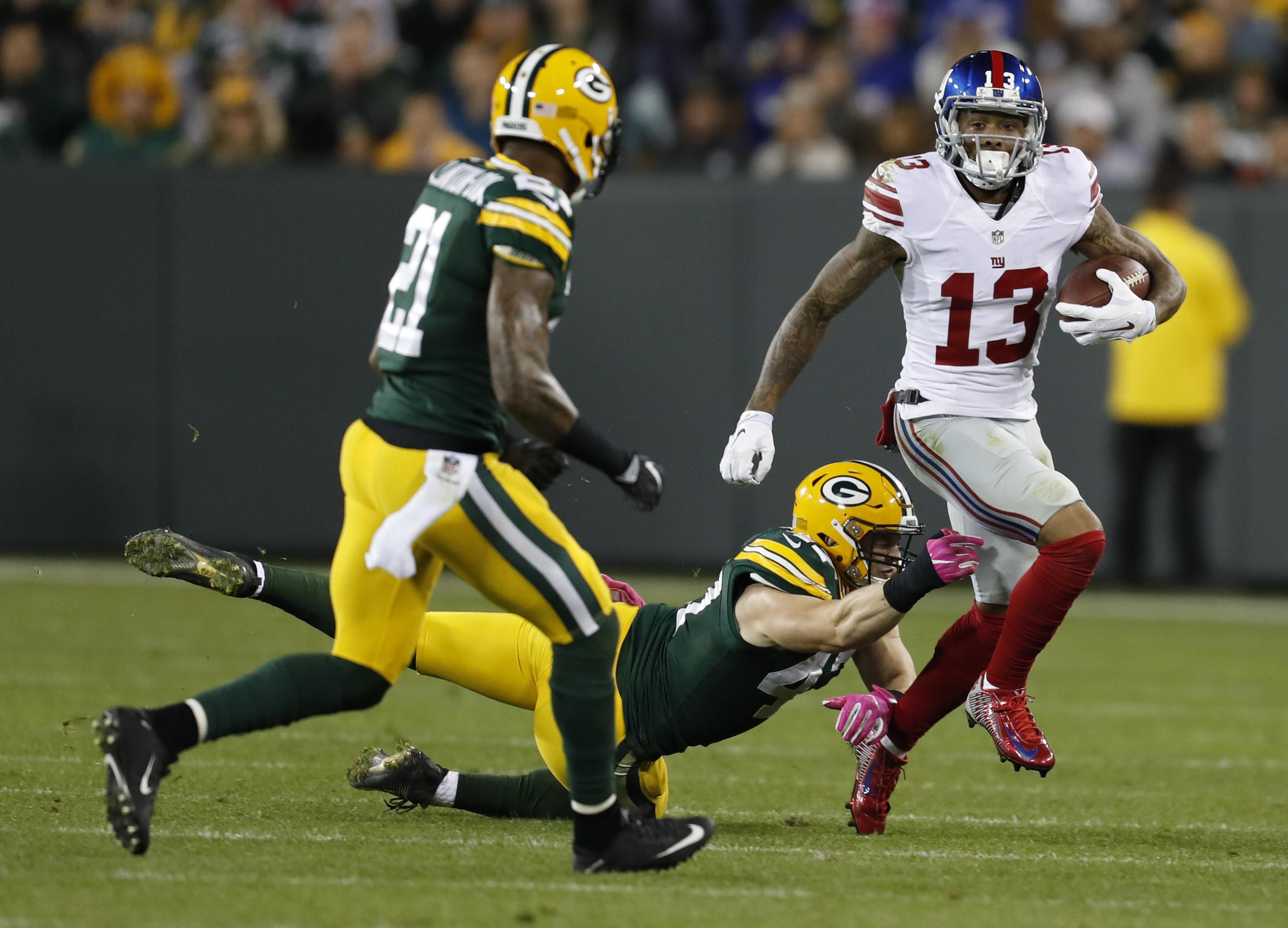 Packers Defeat Giants, Beckham Jr. Squashes Beef With Kicking Net