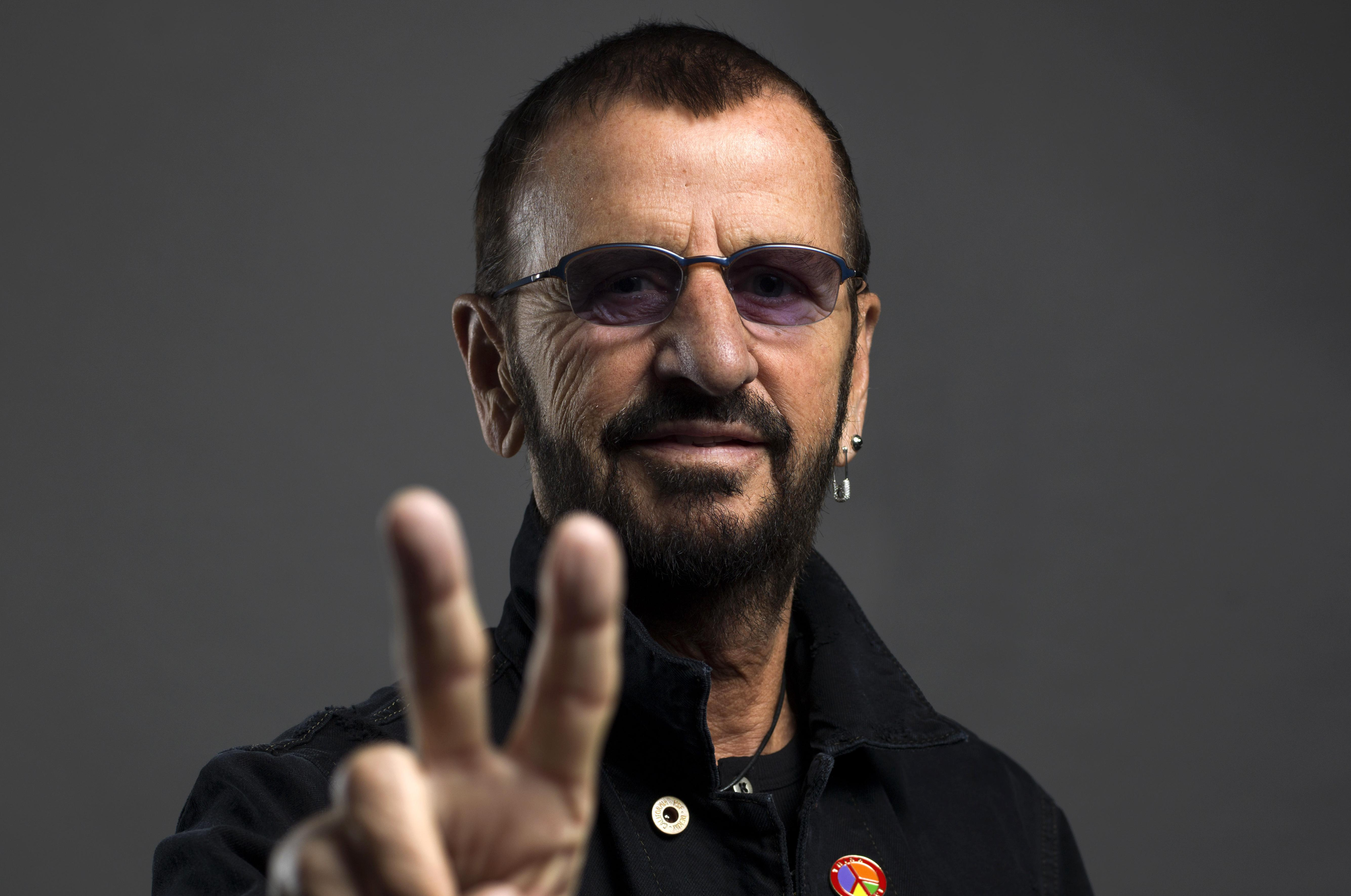 Ringo Starr Poses For A Portrait On In June New York Is