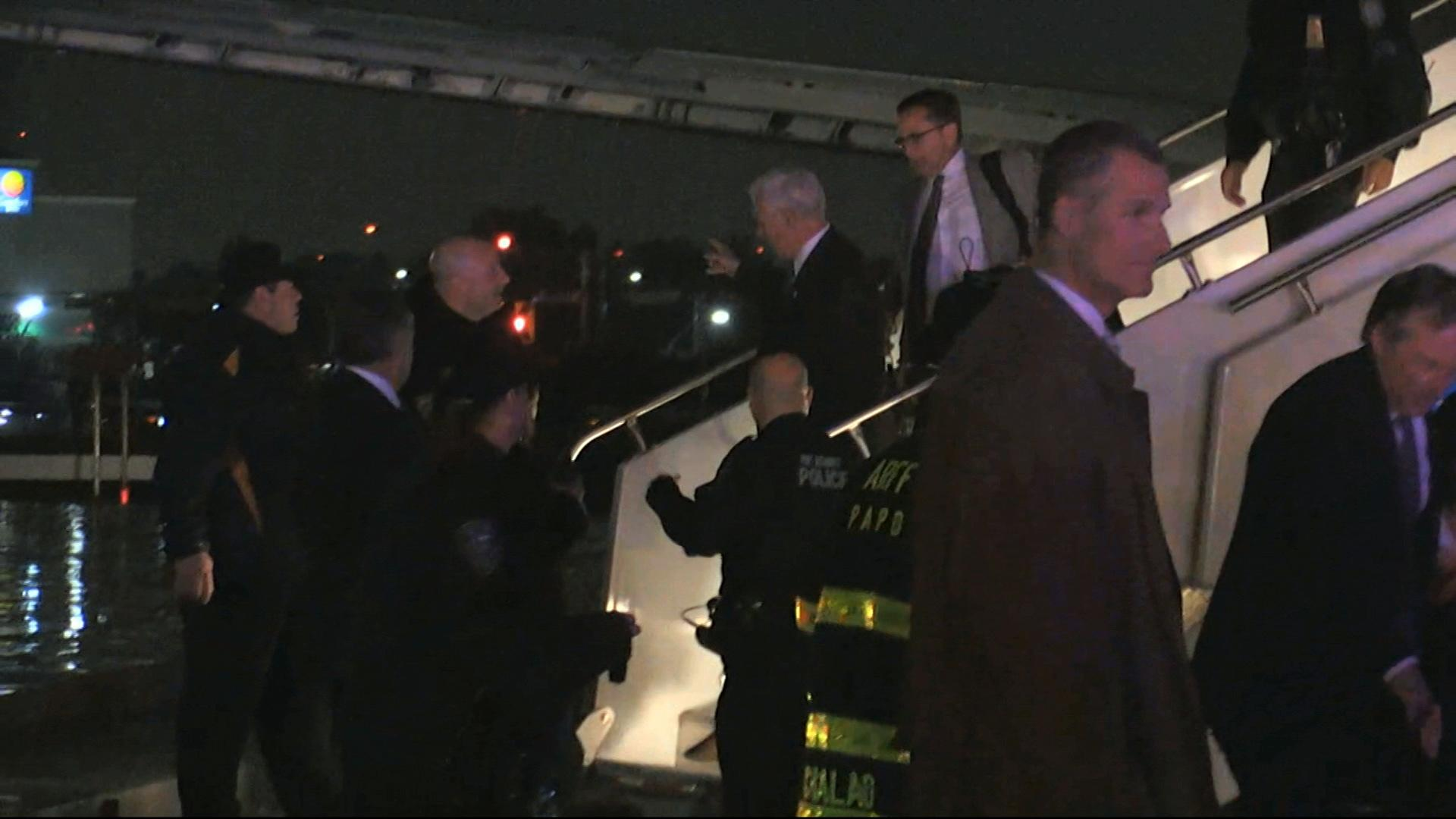 Pence plane slides off runway at NYC's LaGuardia Airport