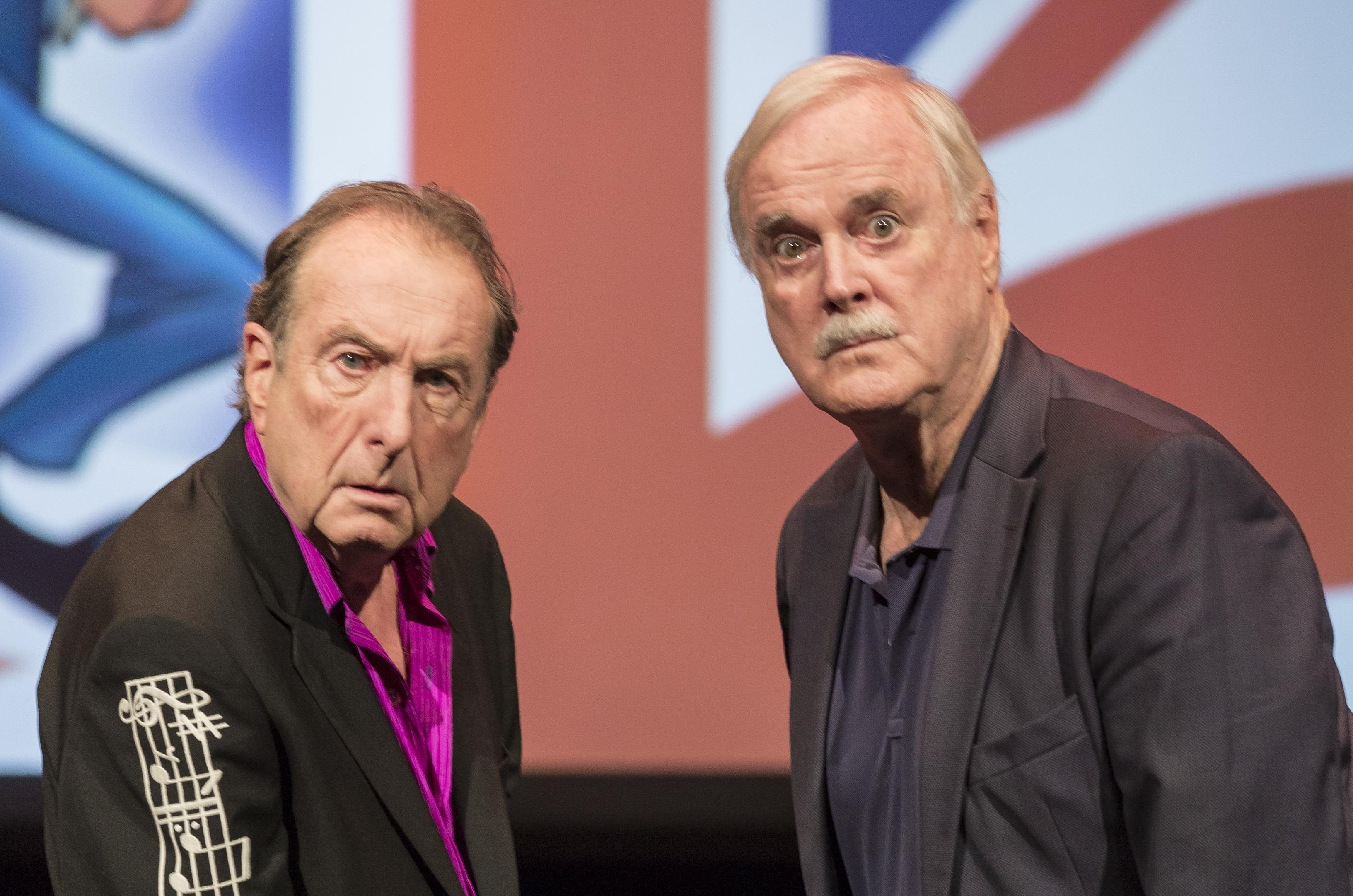 John Cleese And Eric Idle Perform In Sarasota Florida In 2015 The Two Comedians