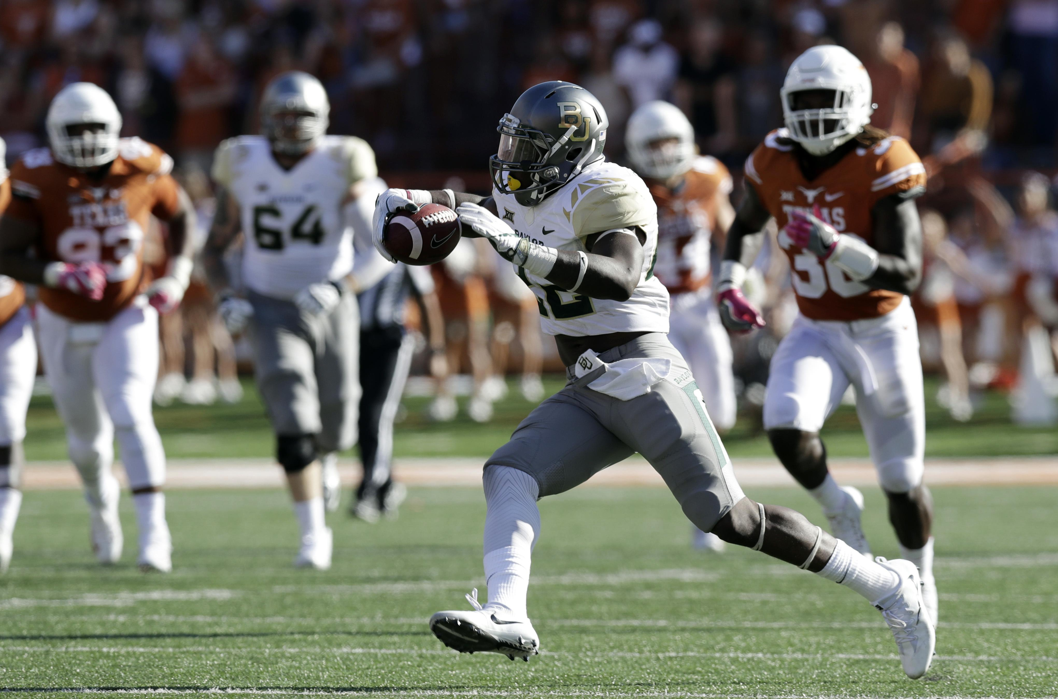 Baylor Career Rushing Leader Sidelined For Attitude Issues The
