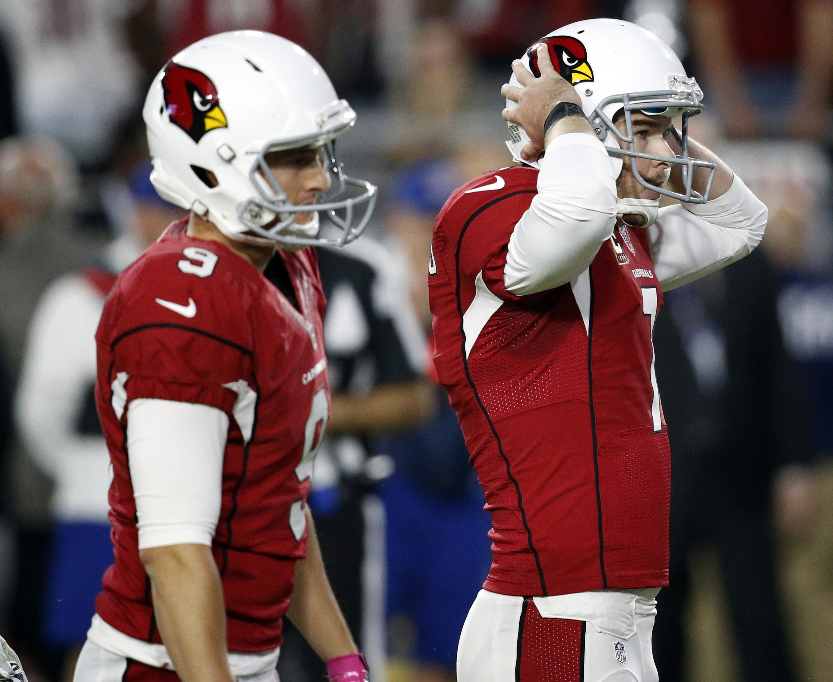 In this Oct. 23, 2016, file photo, Arizona Cardinals kicker Chandler  Catanzaro