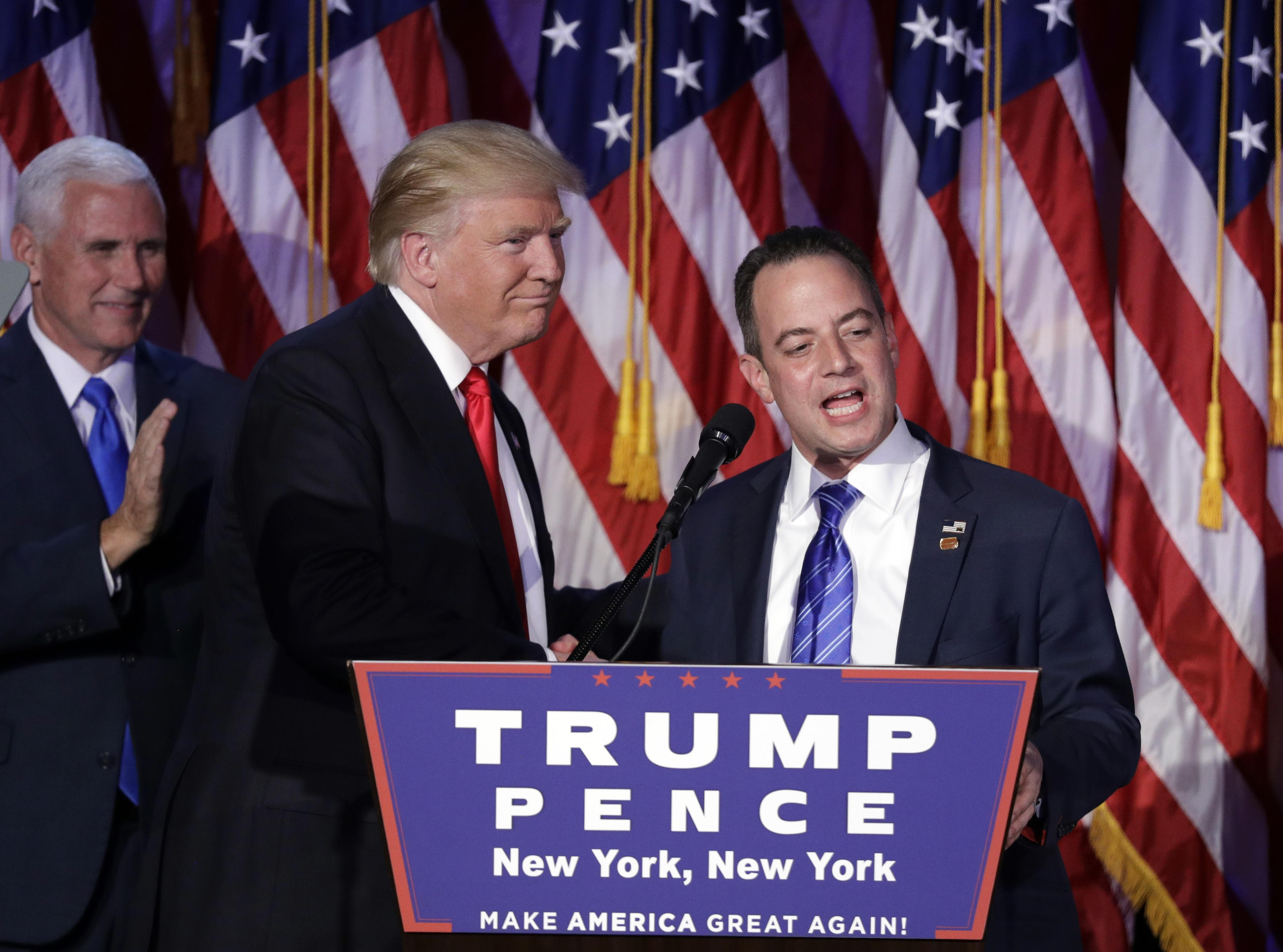 Reince Priebus, Chair Of The Republican National Committee, Right, Speaks  As President