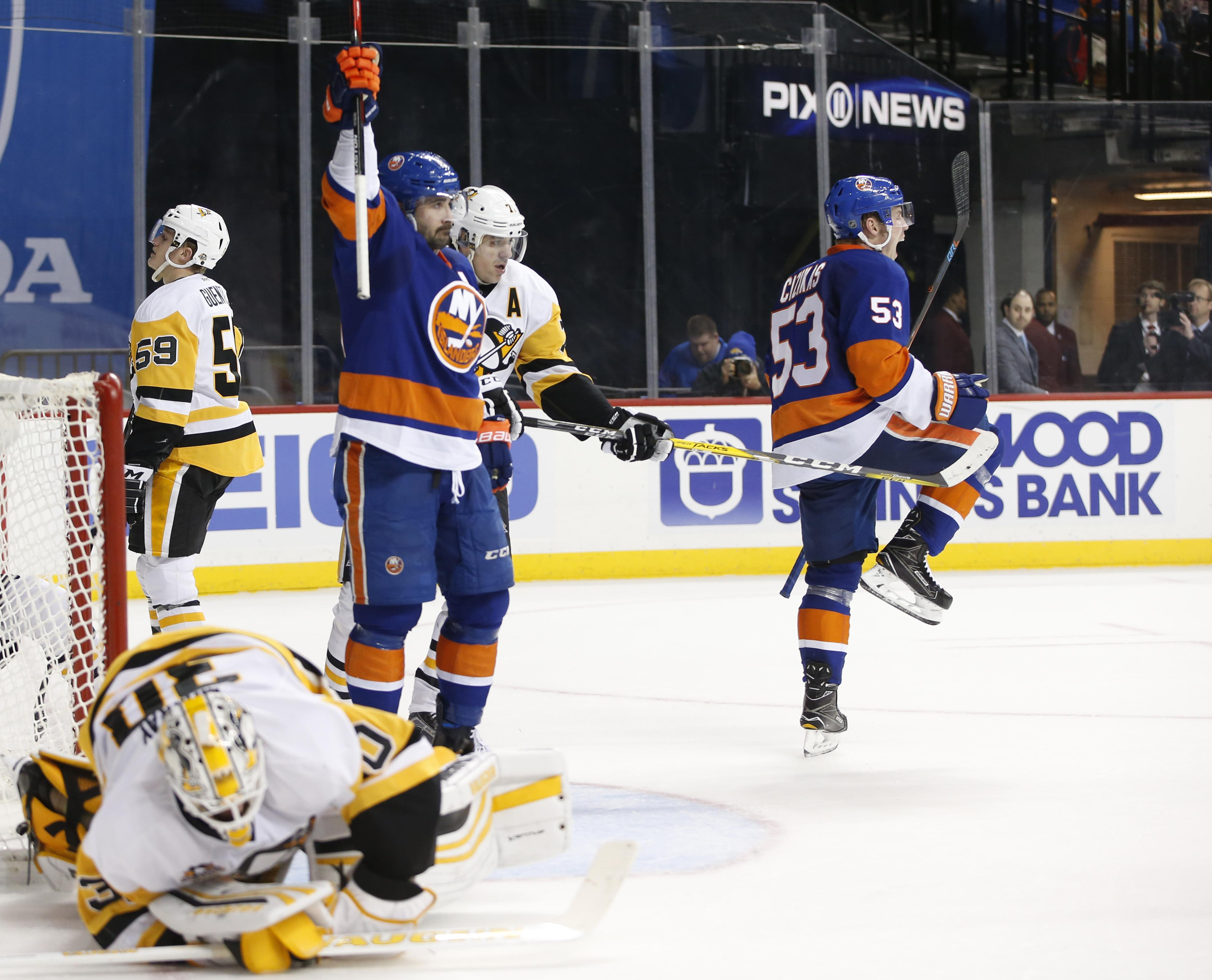best service dbd66 21136 NHL Capsules: Lee scores with 27 seconds left, Islanders ...