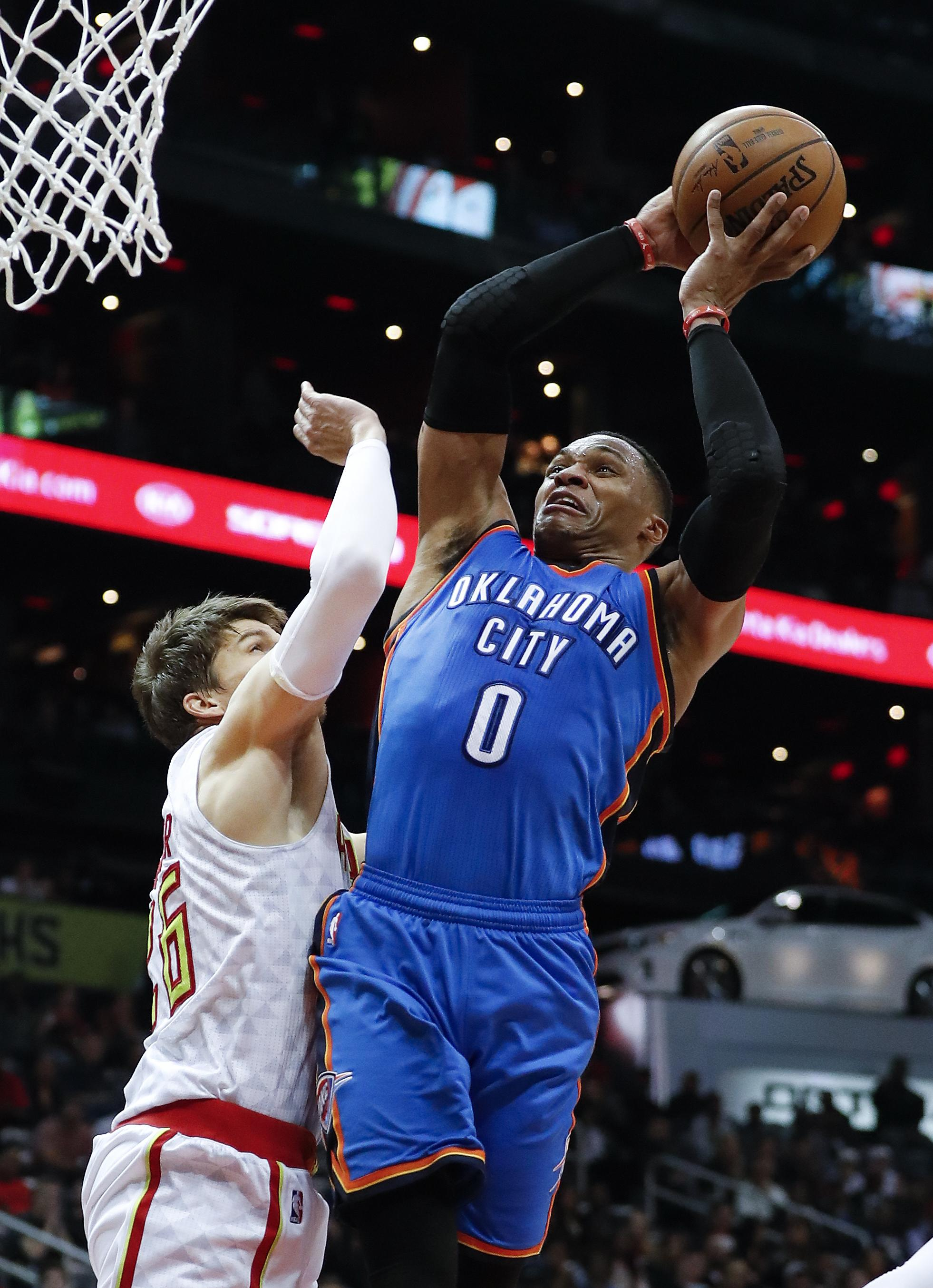NBA Roundup Russell Westbrooks Triple Double Leads Thunder Past