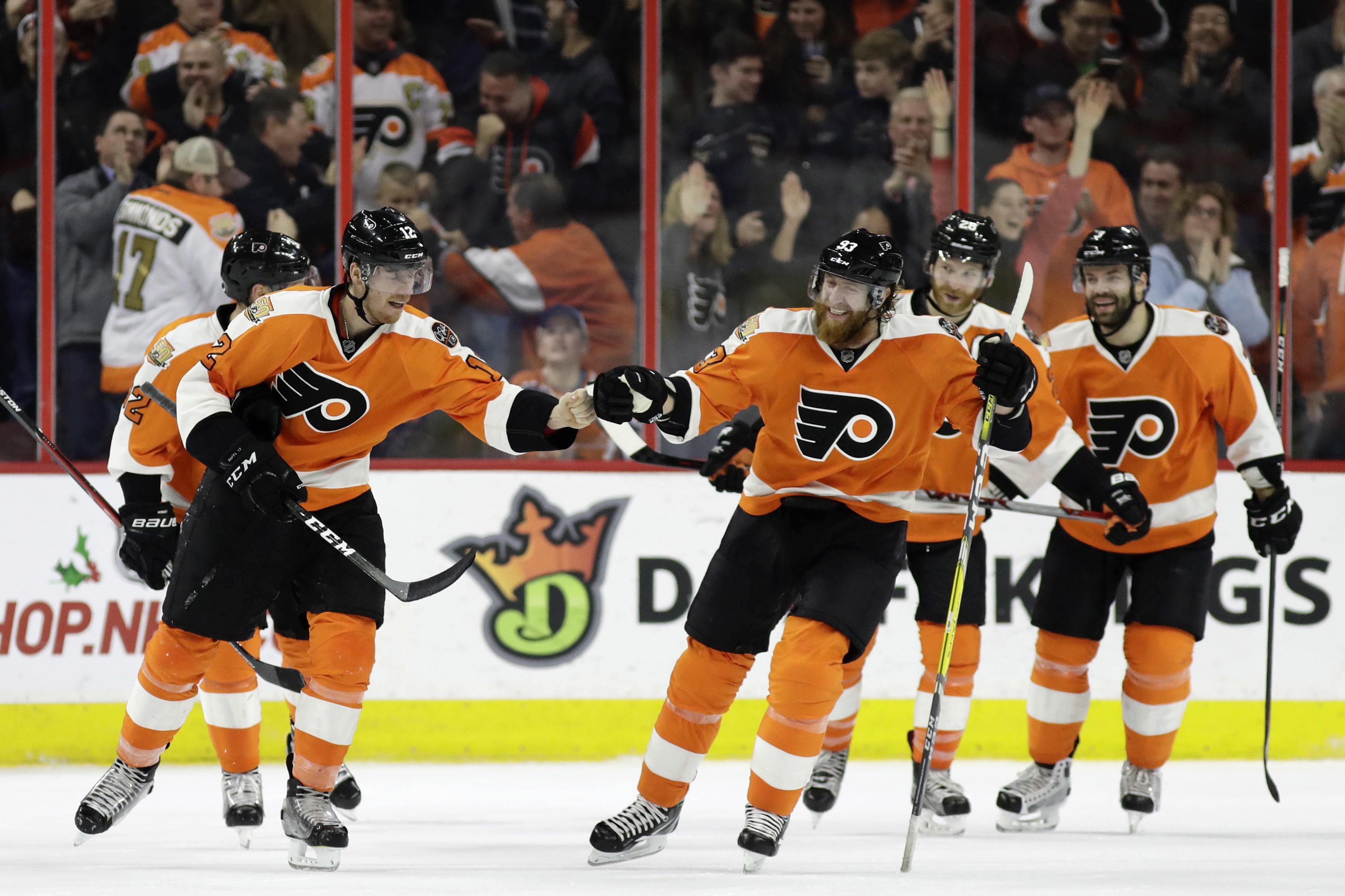 Nhl Capsules Raffl Scores Late Flyers Beat Oilers For 7th Straight