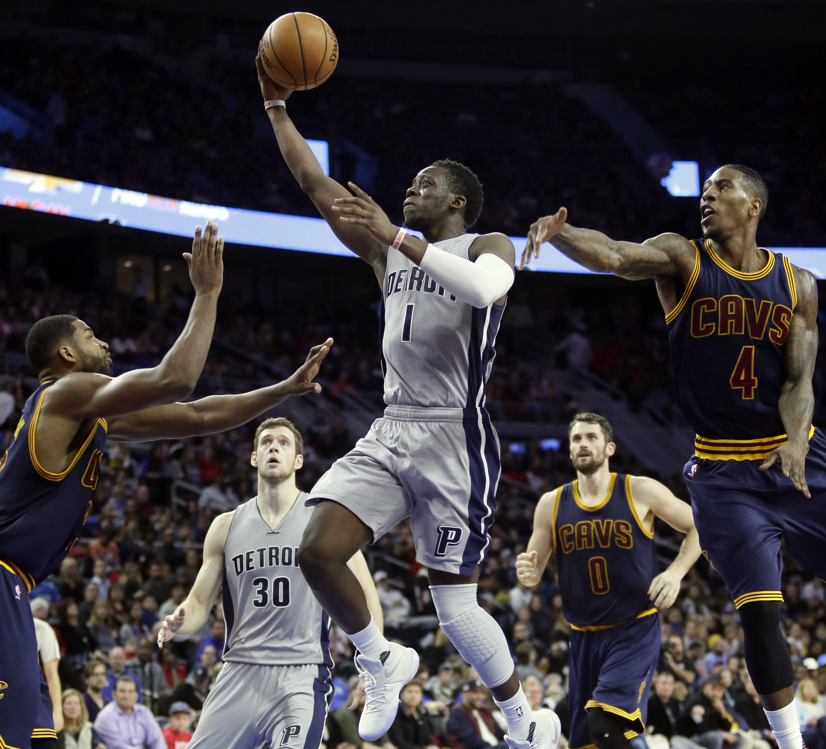 5eaf22365a58 NBA roundup  Pistons rout Cavaliers 106-90 while LeBron James rests ...
