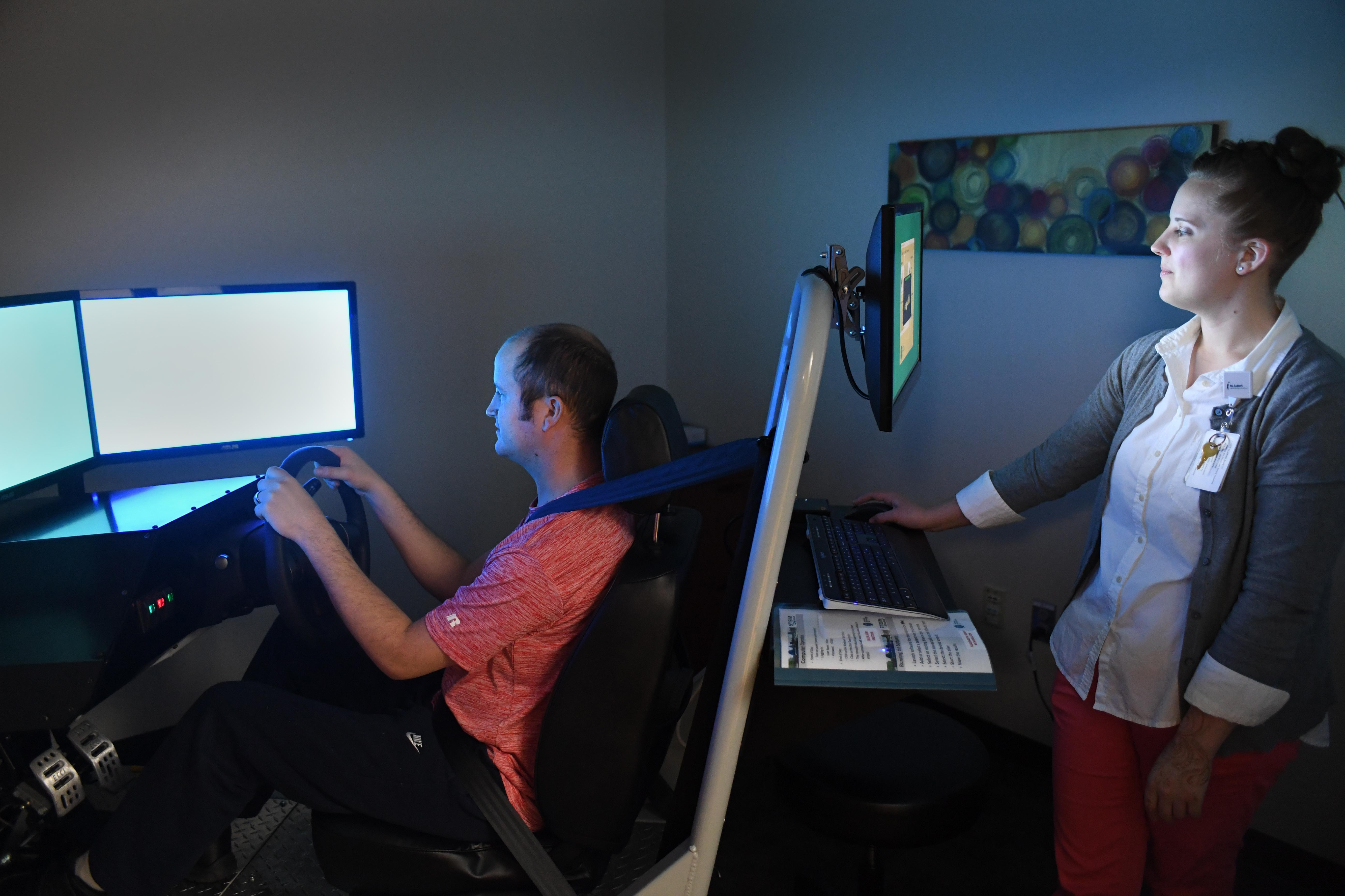 New driving simulator helps St  Luke's rehab patients get