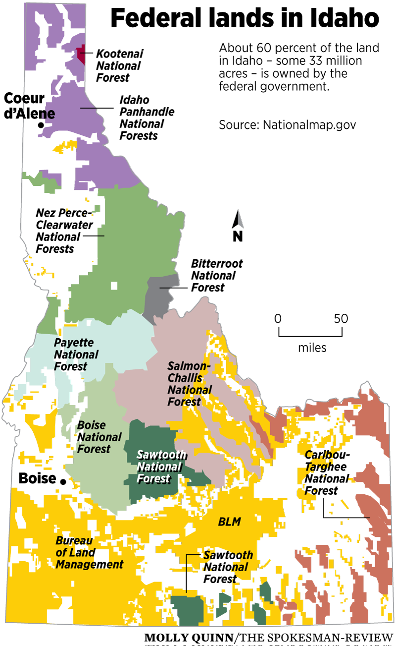 Push To Turn Over Federal Lands To The States May Be Losing Steam - Map us government owned land