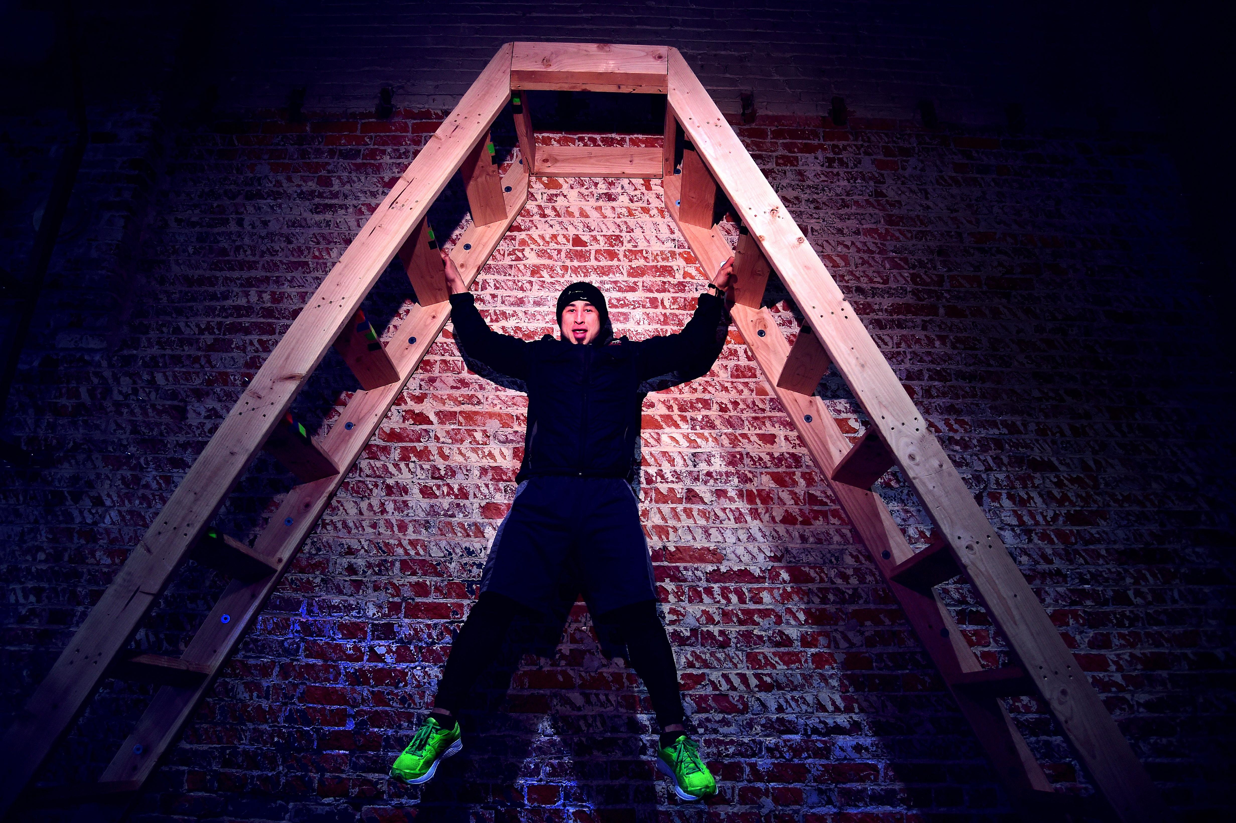 ex addict preaches the salvation of intense physical training at his