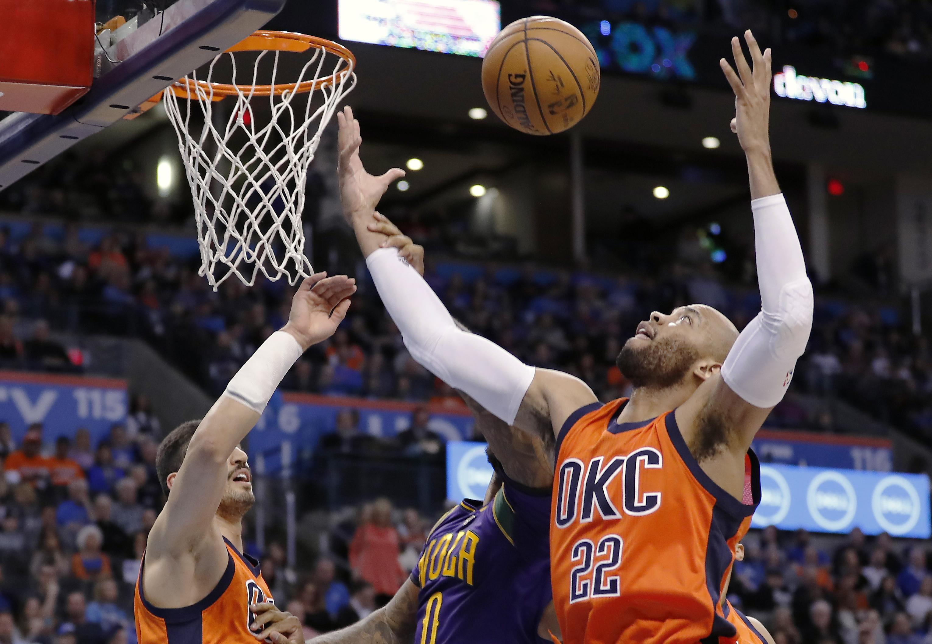 d91849ce96ad NBA roundup  Russell Westbrook scores 41 in triple-double as Thunder ...
